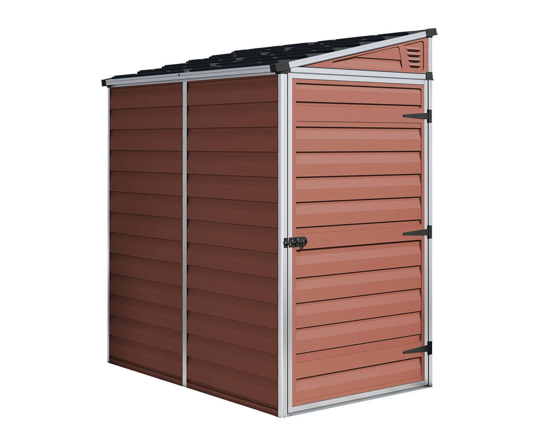 palram 4x6 pent plastic skylight amber shed