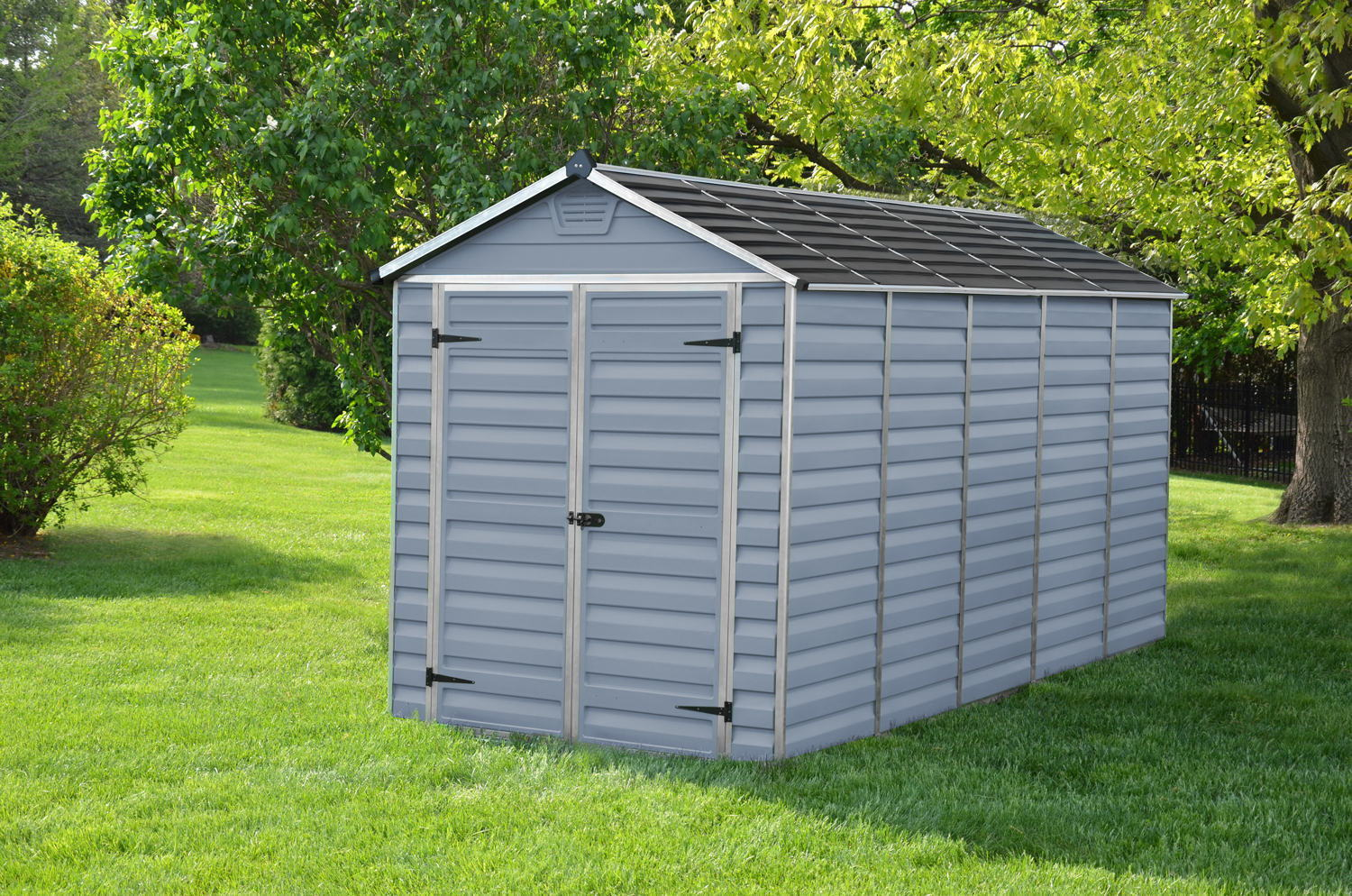 Palram 6x12 Plastic Skylight Grey Shed Greenhouse Stores