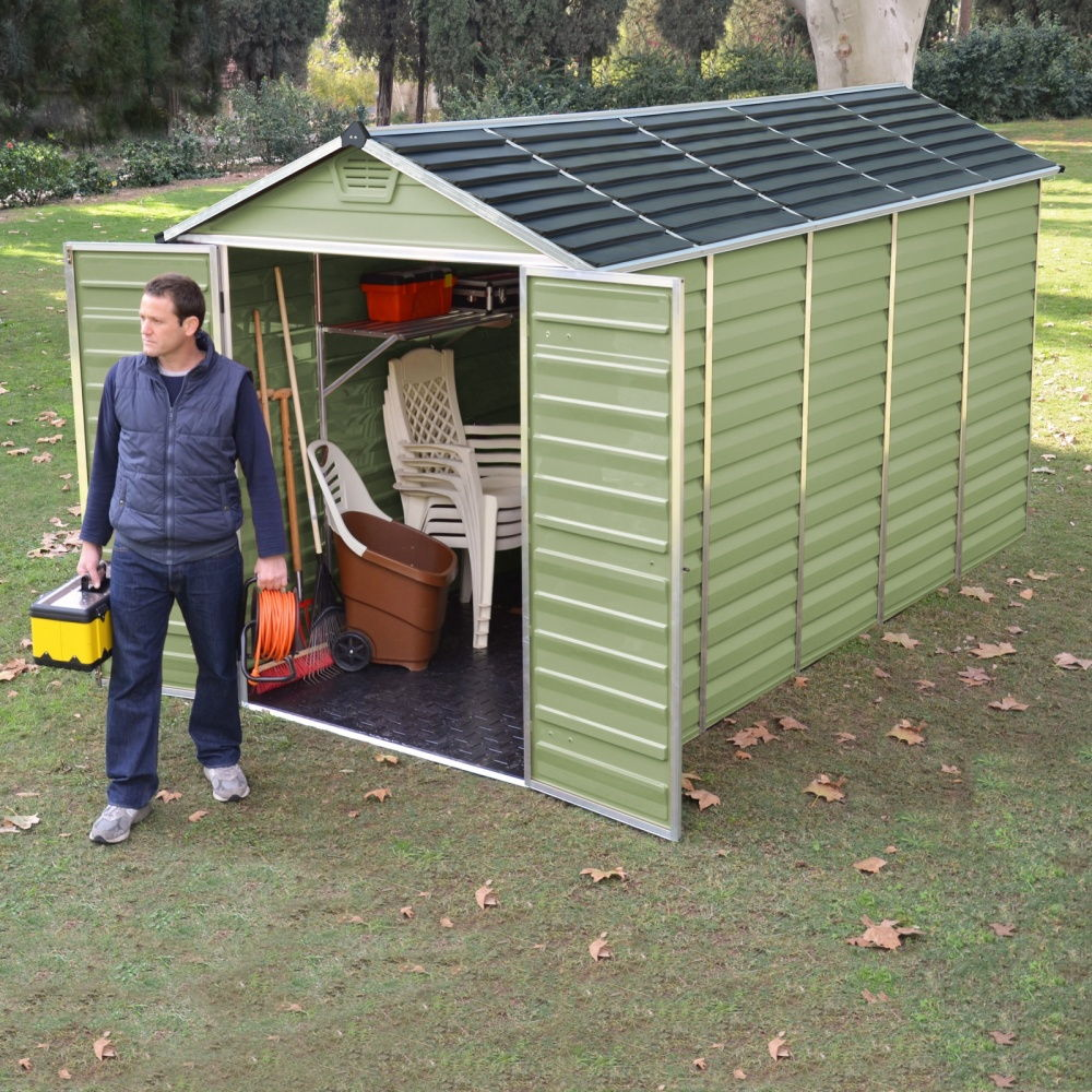 Palram 6x12 plastic skylight shed greenhouse stores for Greenhouse skylights