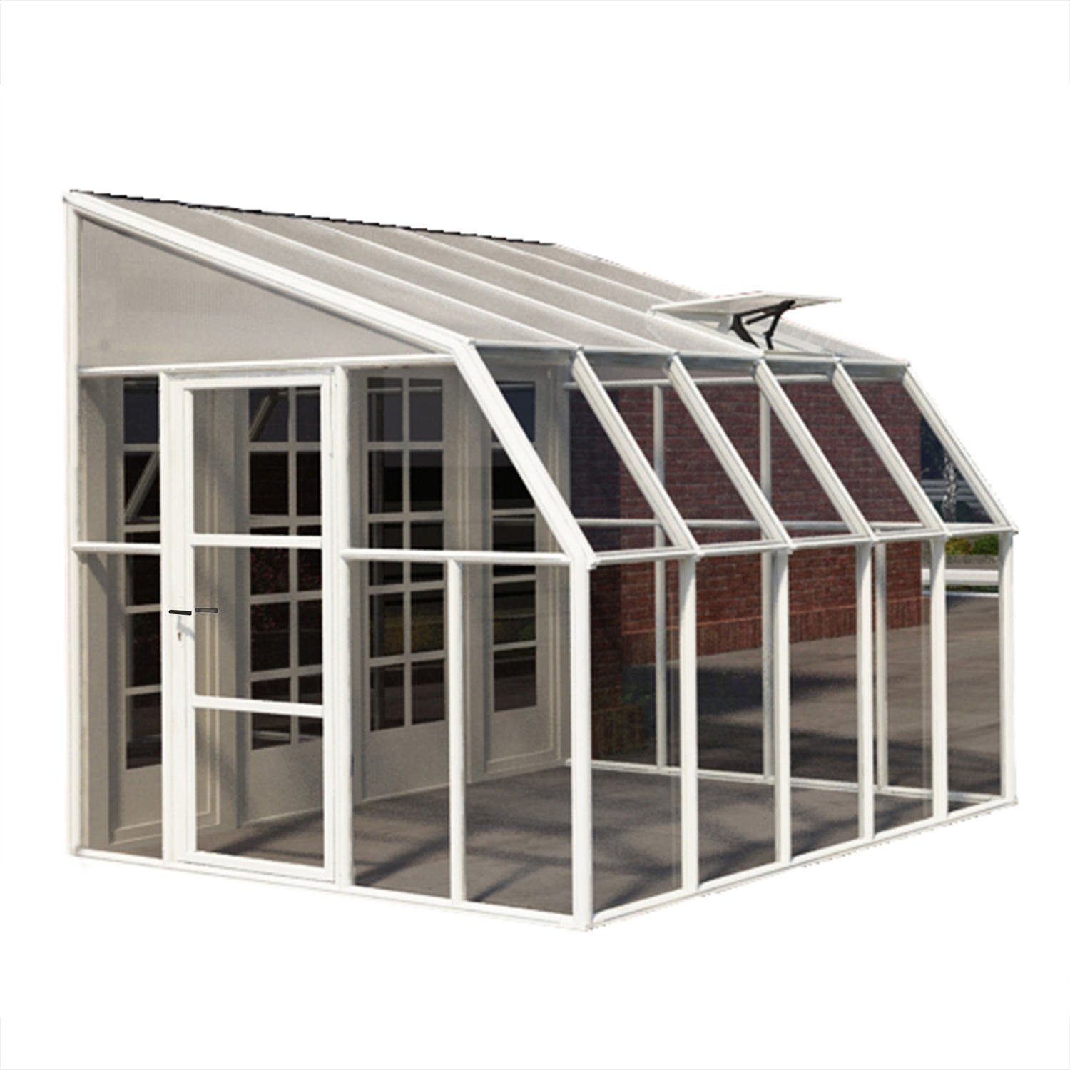 Rion sun room 8x10 lean to greenhouse polycarbonate for Sunroom attached to house