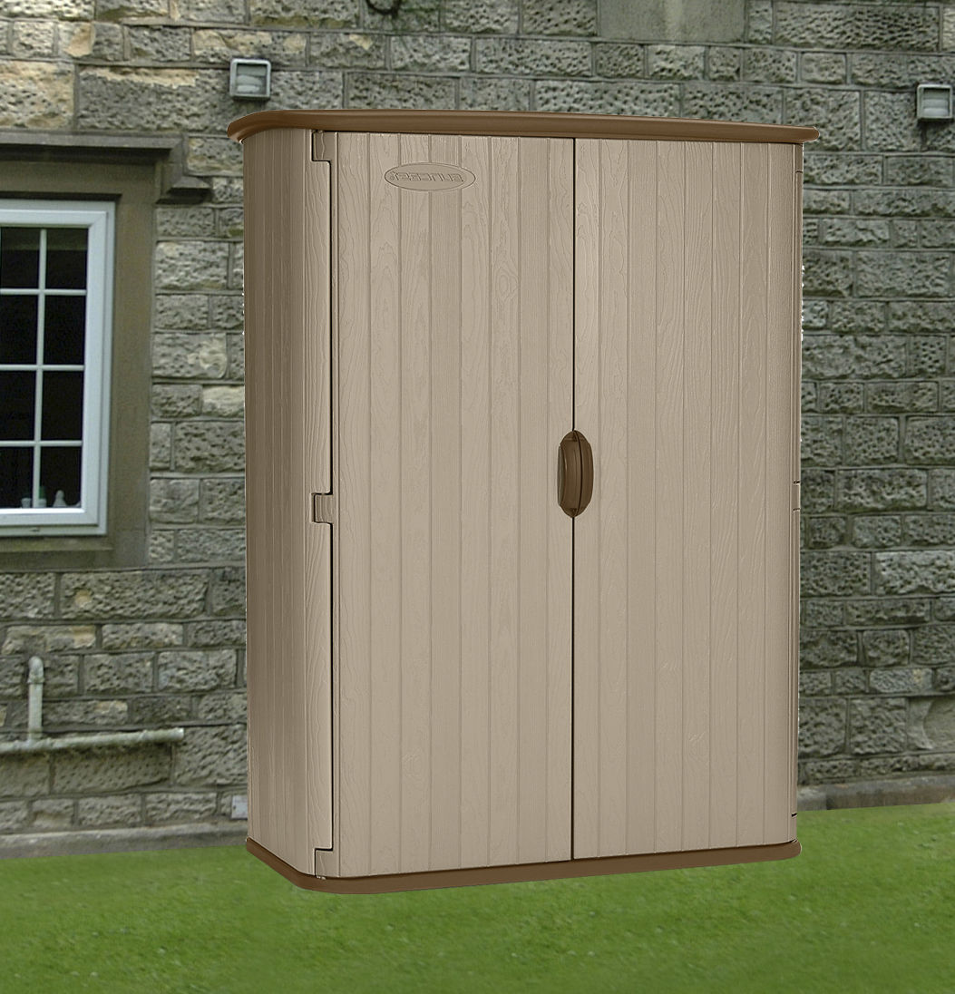Suncast 5x2 conniston four plastic garden shed for Garden shed 2 x 2