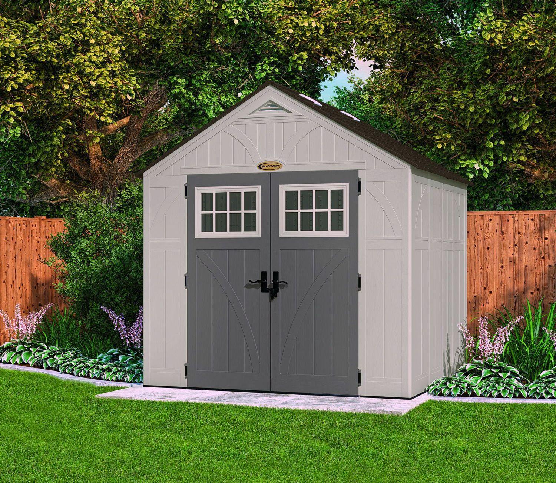 Suncast 8x7 Tremont Four Plastic Shed Greenhouse Stores