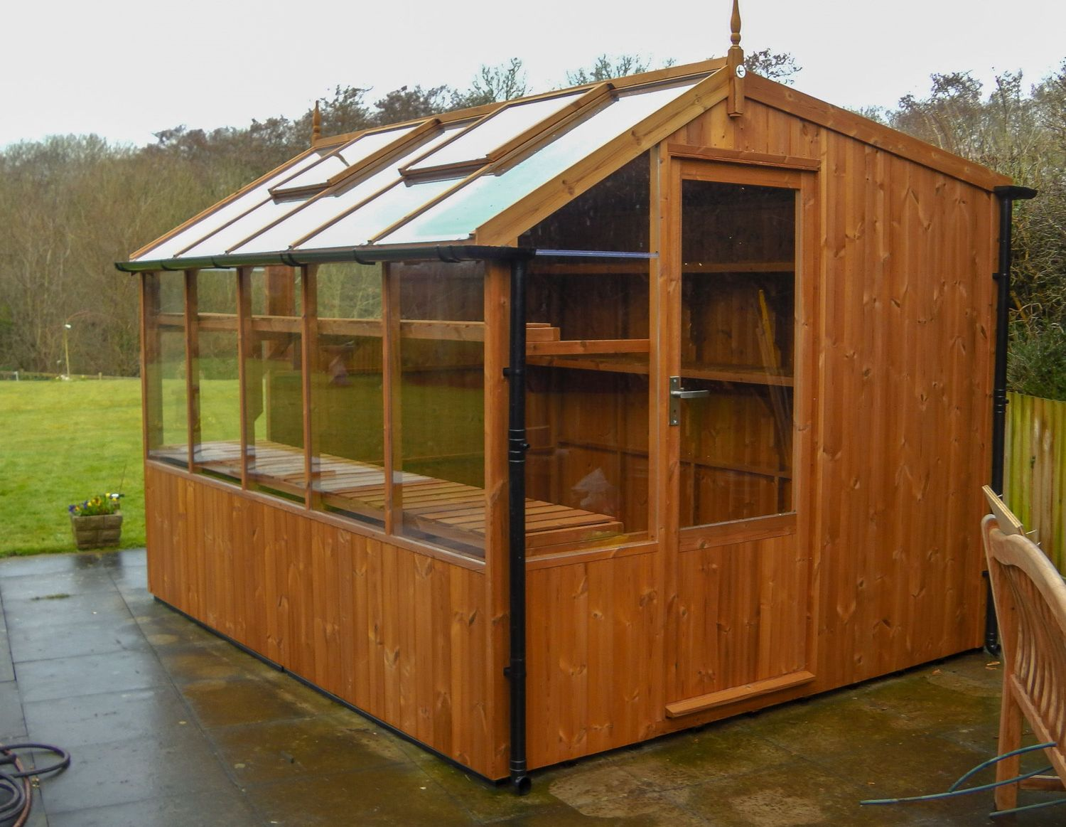 Swallow Rook 8x14 Wooden Potting Shed Greenhouse Stores