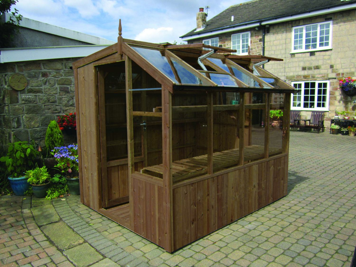 Swallow jay 6x6 wooden potting shed greenhouse stores Green house sheds