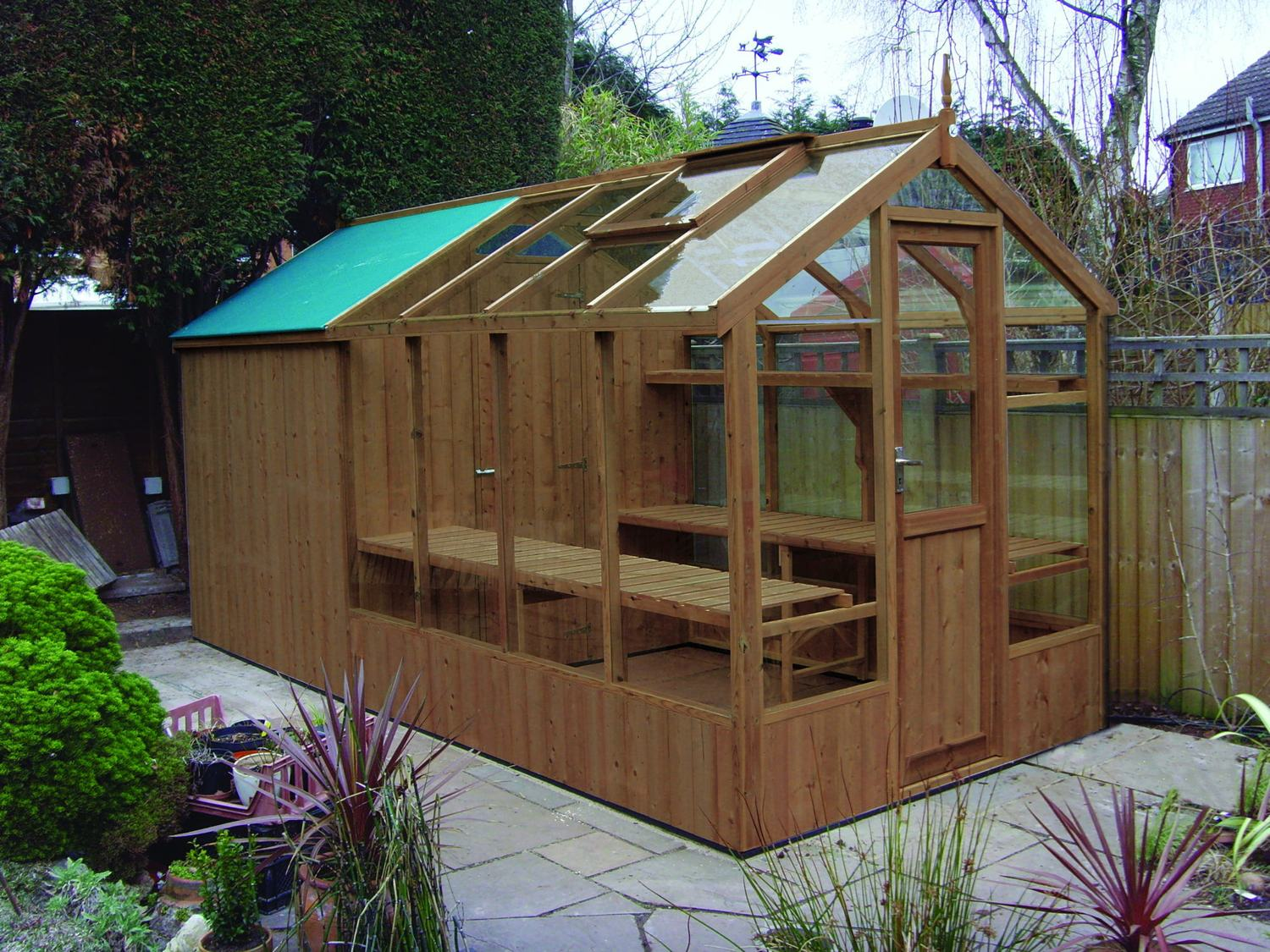 Swallow kingfisher 6x8 greenhouse shed combination Green house sheds