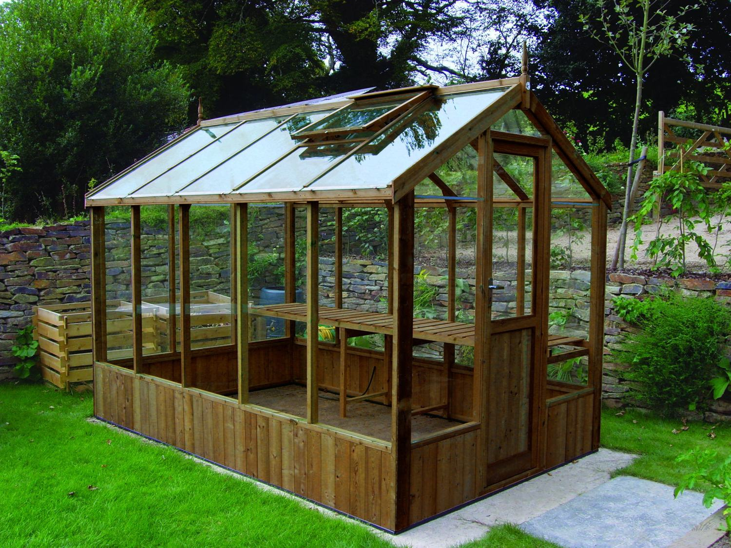 The green house mere - Swallow Kingfisher 6x8 Wooden Greenhouse