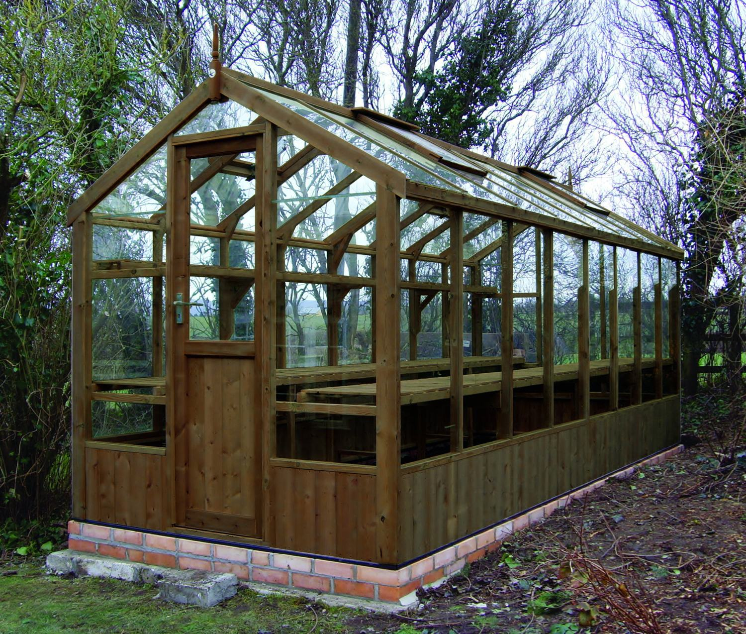 Swallow Kingfisher 6x16 Wooden Greenhouse
