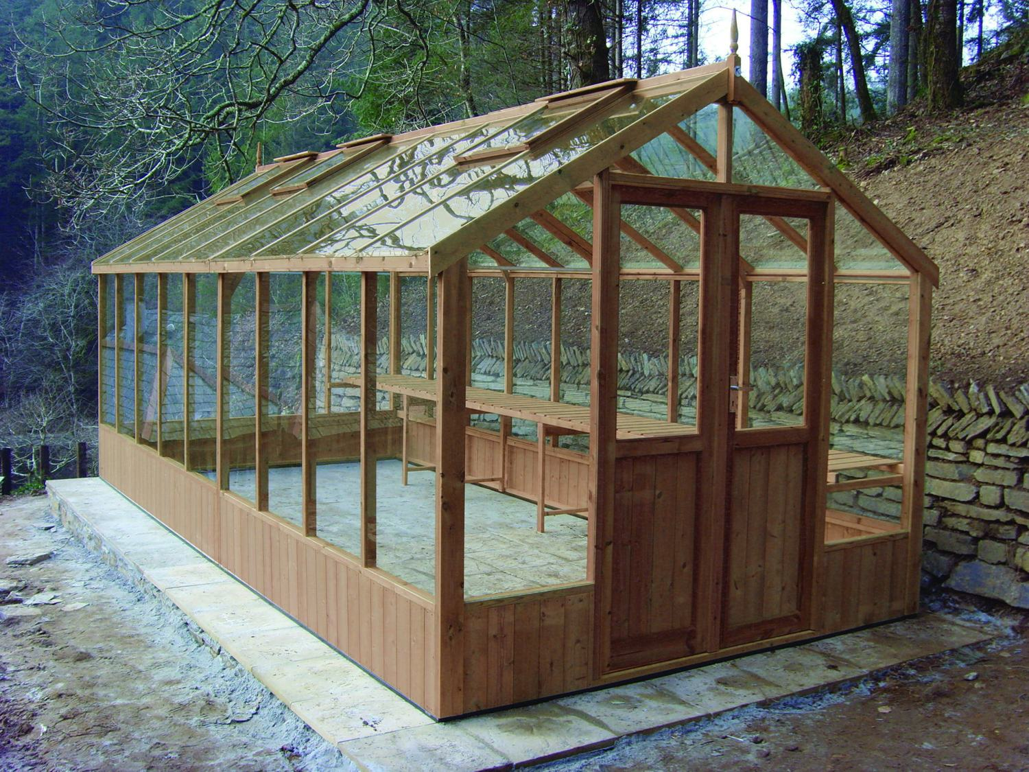 Swallow Raven 8x16 Wooden Greenhouse Greenhouse Stores