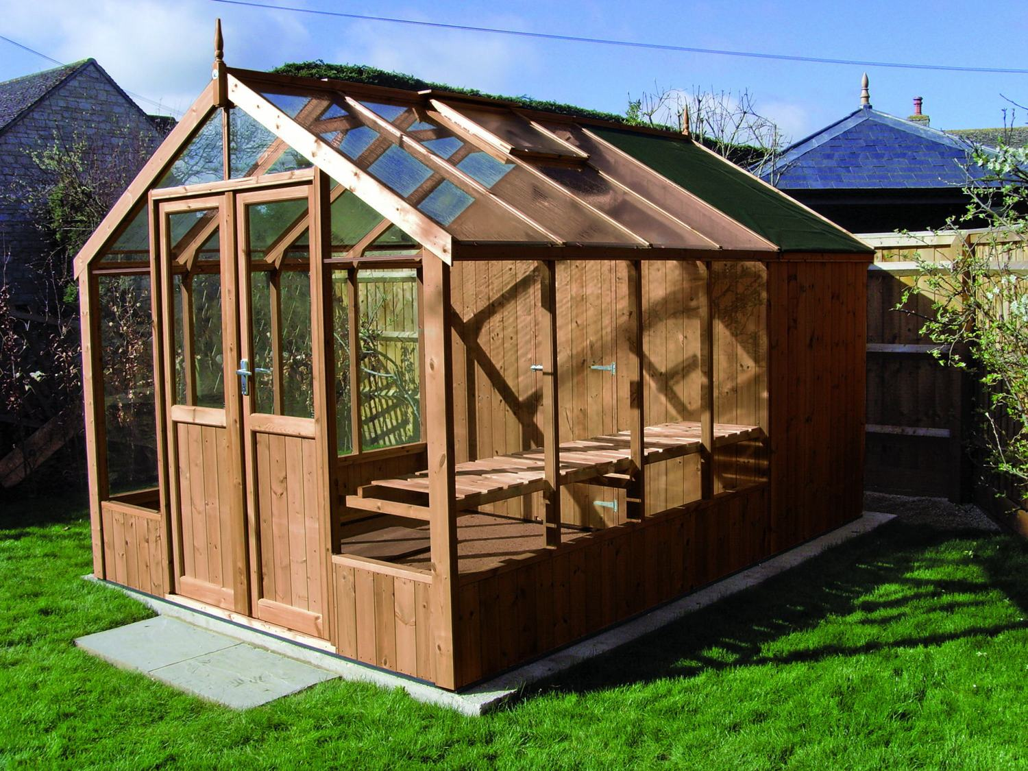 Swallow raven 8x8 greenhouse shed combination Green house sheds
