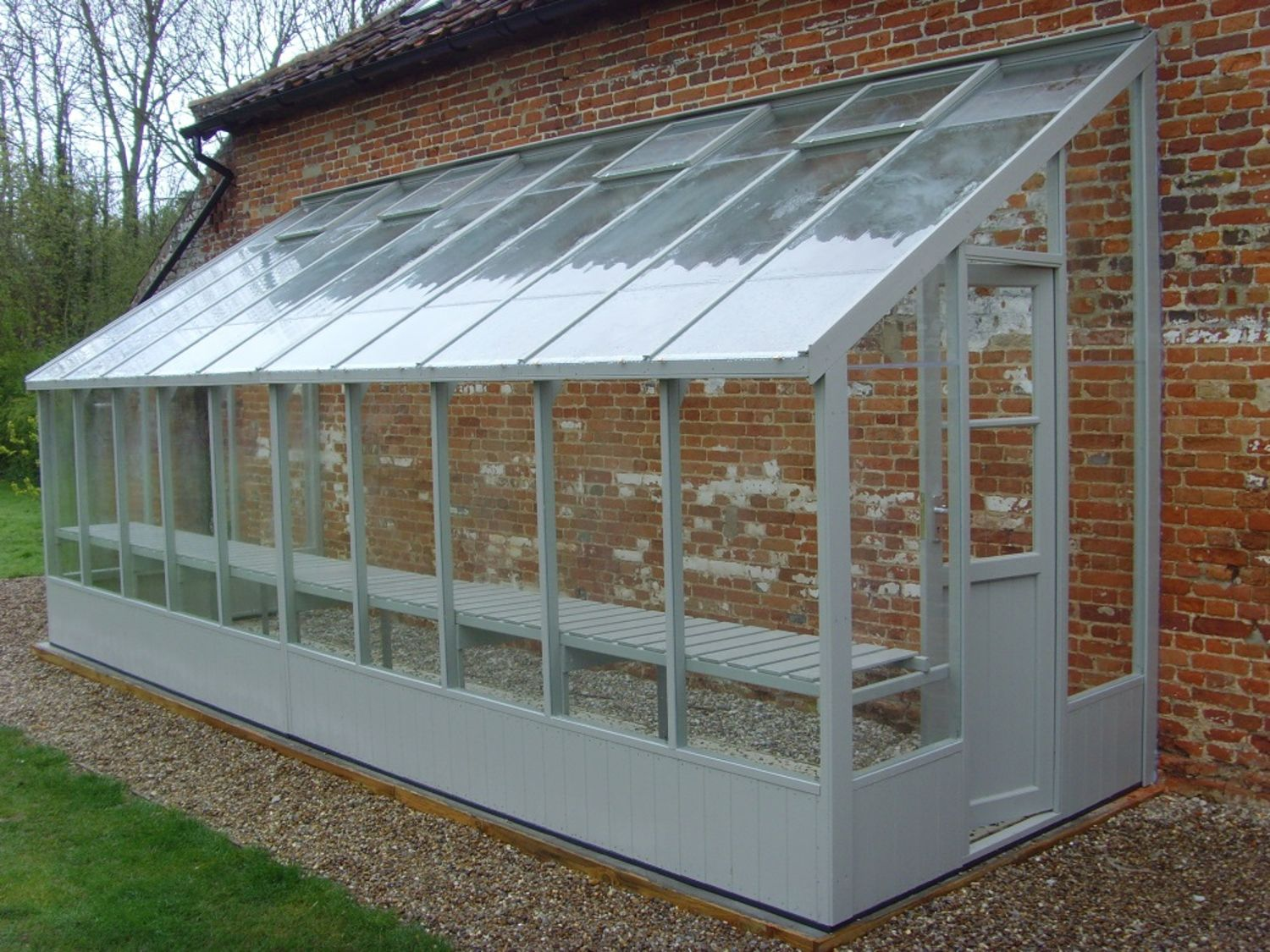 Swallow dove 6x20 lean to greenhouse greenhouse stores for Small wooden greenhouse plans