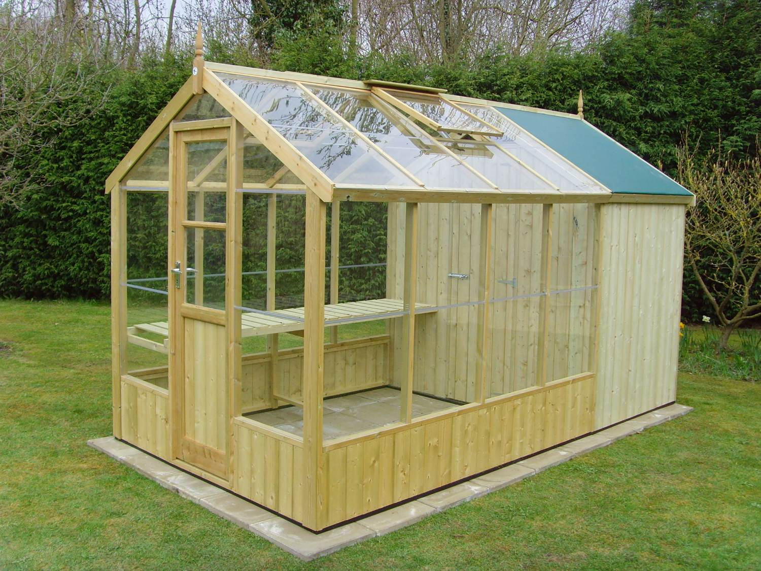 Swallow kingfisher 6x8 wooden greenhouse greenhouse stores Green house sheds