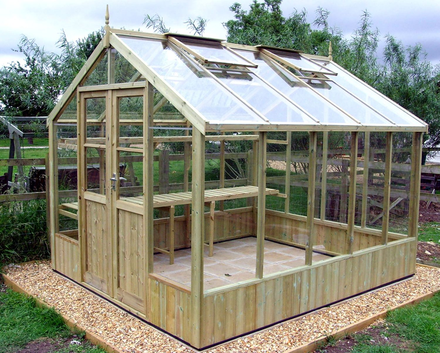 Swallow Raven 8x8 Wooden Greenhouse Stores