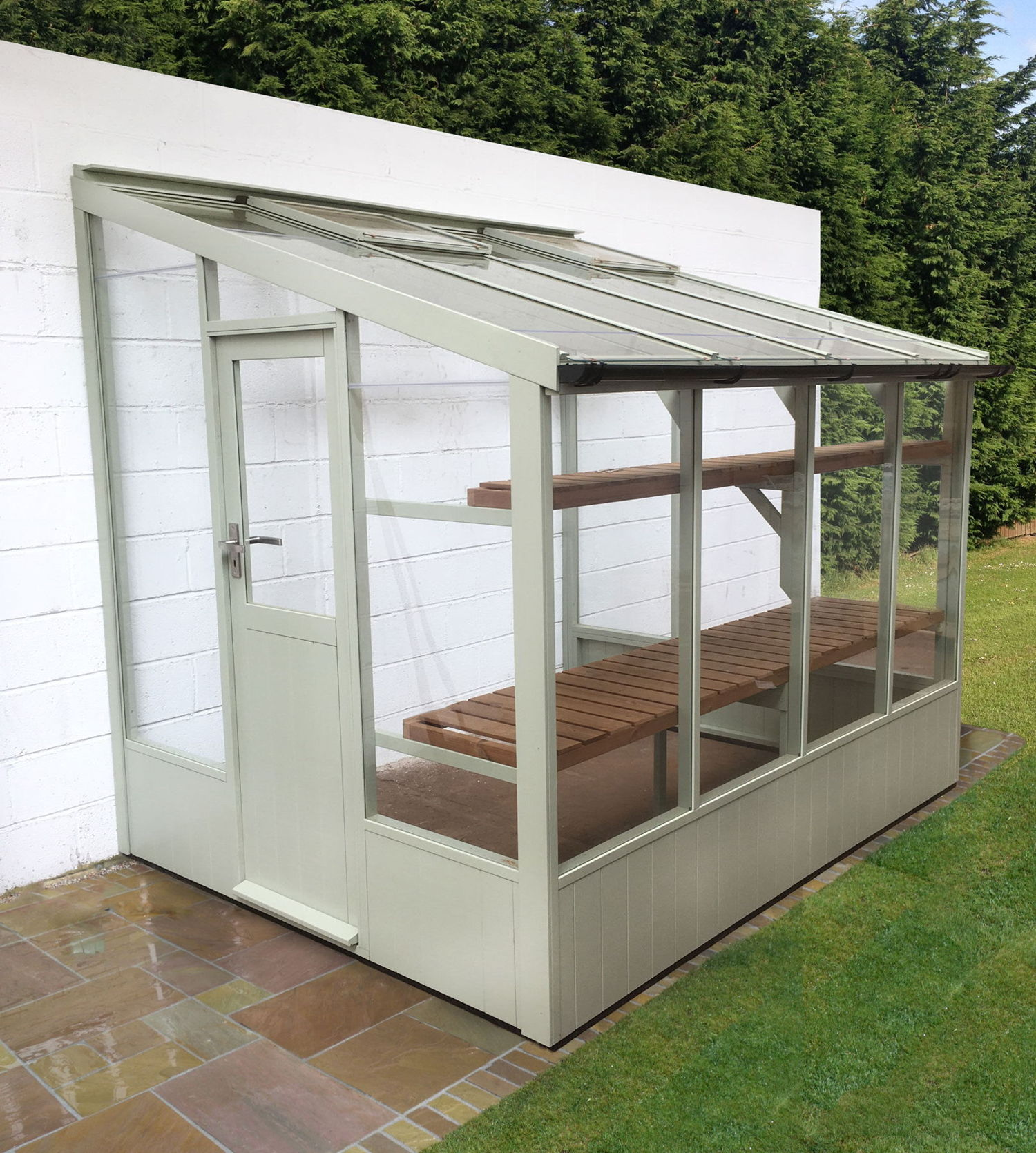 Swallow Starling 6x6 Low Height Lean To Greenhouse