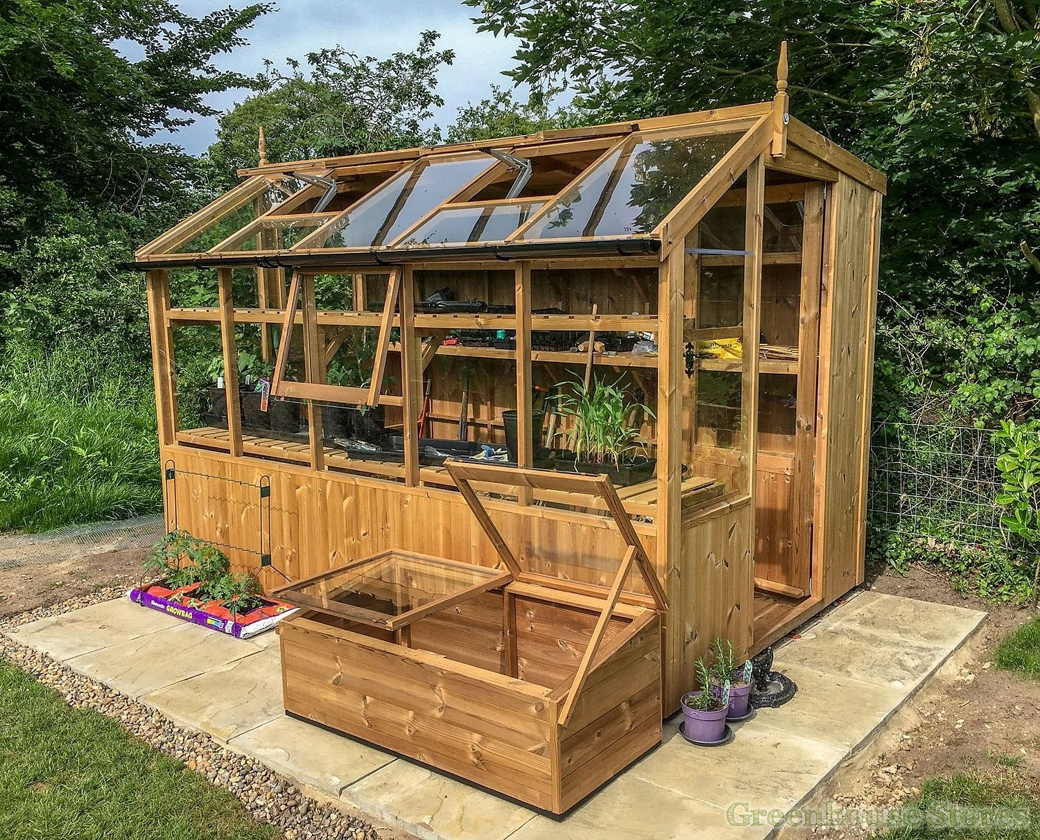 Swallow Jay 6x8 Wooden Potting Shed
