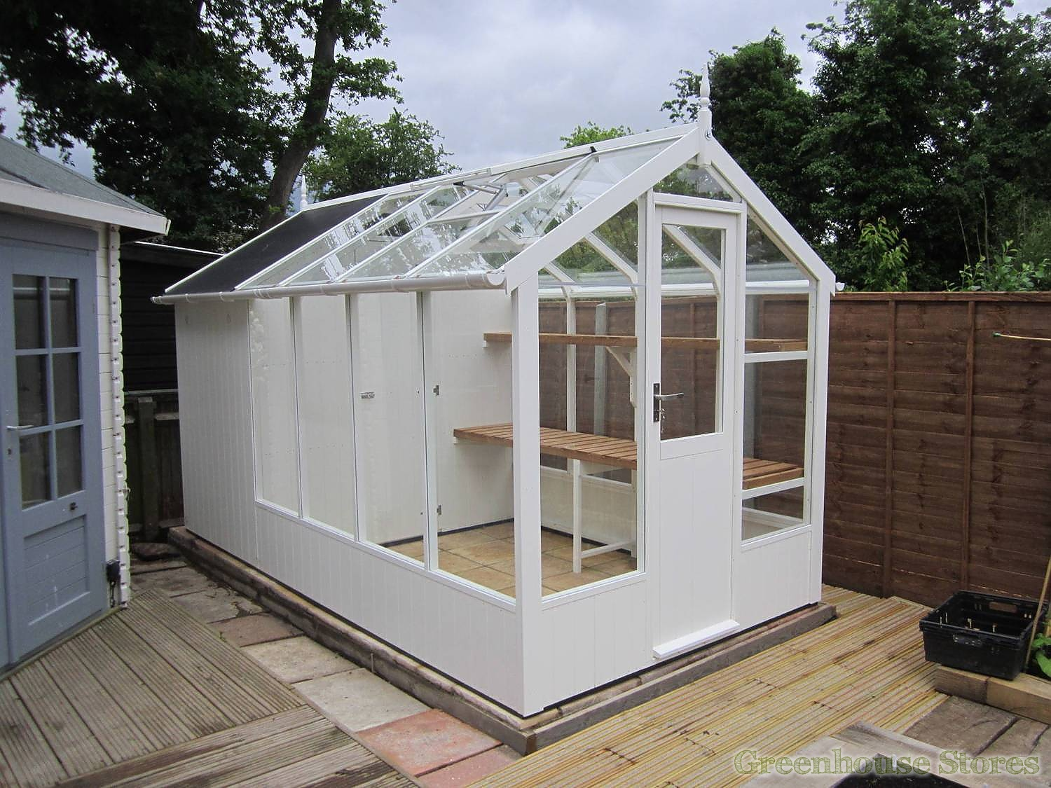 Swallow Kingfisher 6x8 Greenhouse 4ft Shed Combination