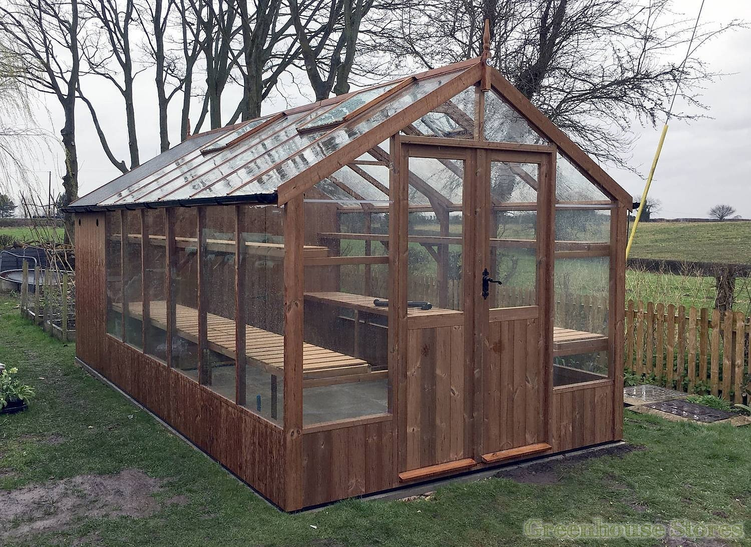 Swallow Raven 8x12 Greenhouse 4ft Shed Combination