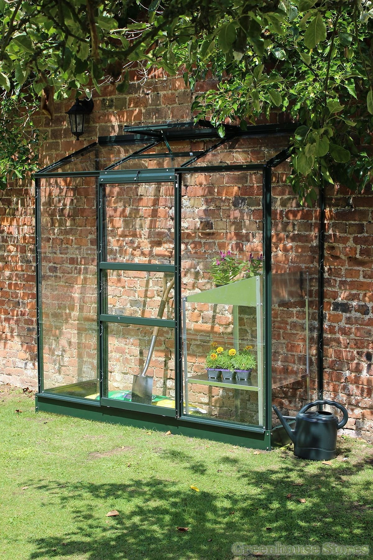 Halls 2x6 Wall Garden Green Lean To Greenhouse Toughened