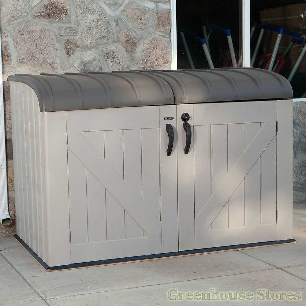 the lifetime 6x3 5 plastic outdoor storage unit is a 6ft wide storage