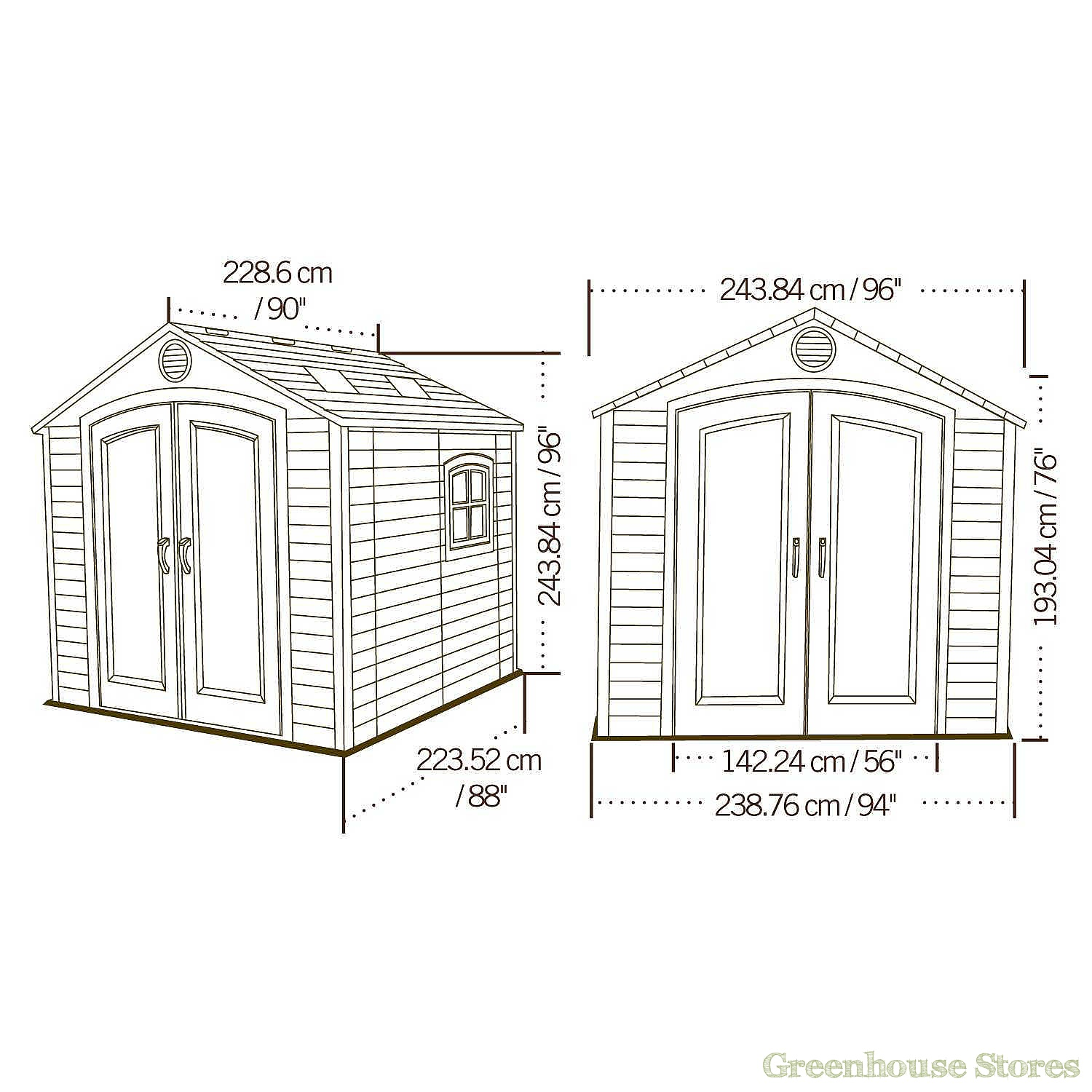 Lifetime 8x7 5 Plastic Shed Greenhouse Stores