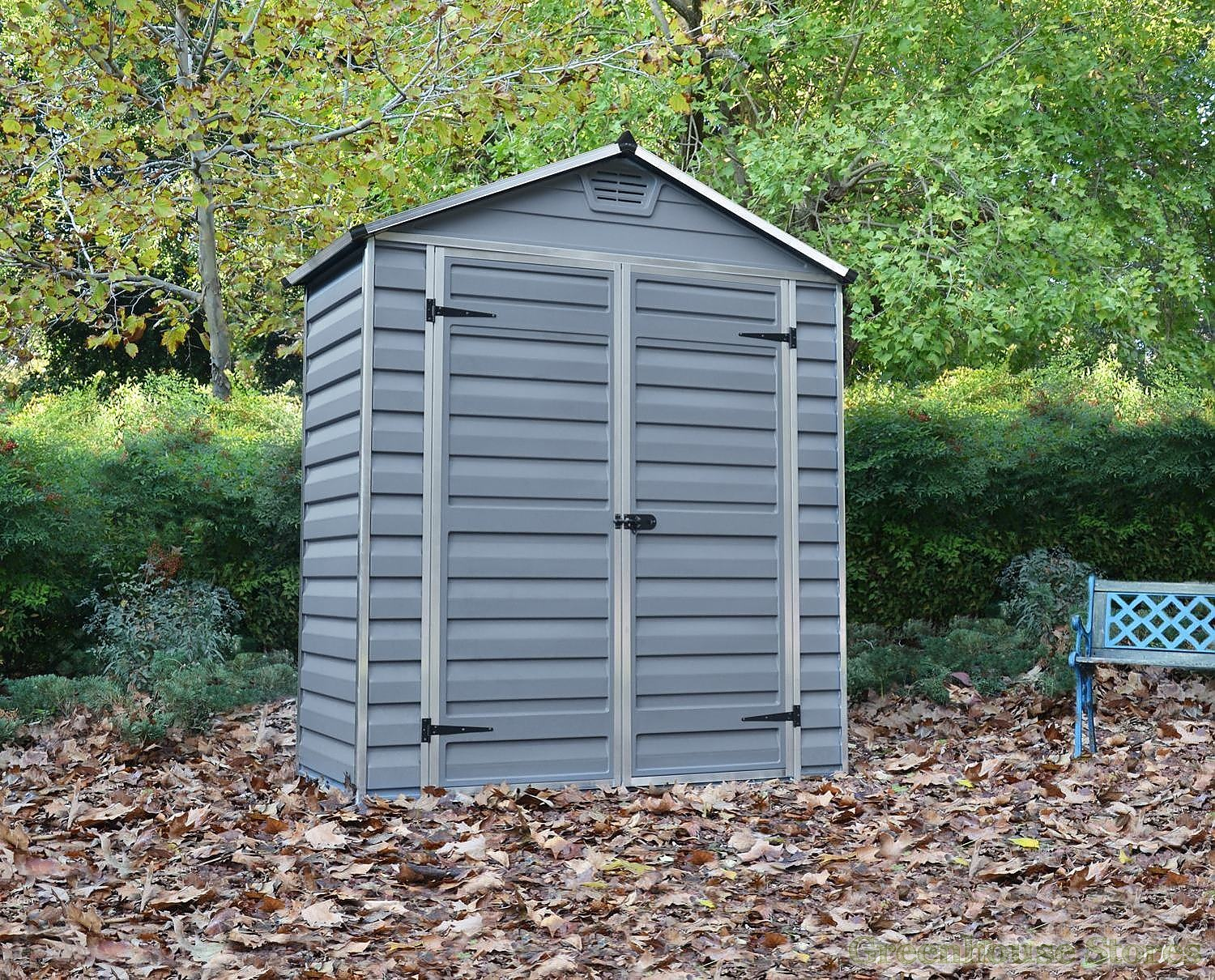 Palram 6x3 plastic skylight grey shed greenhouse stores for Garden shed 6x3