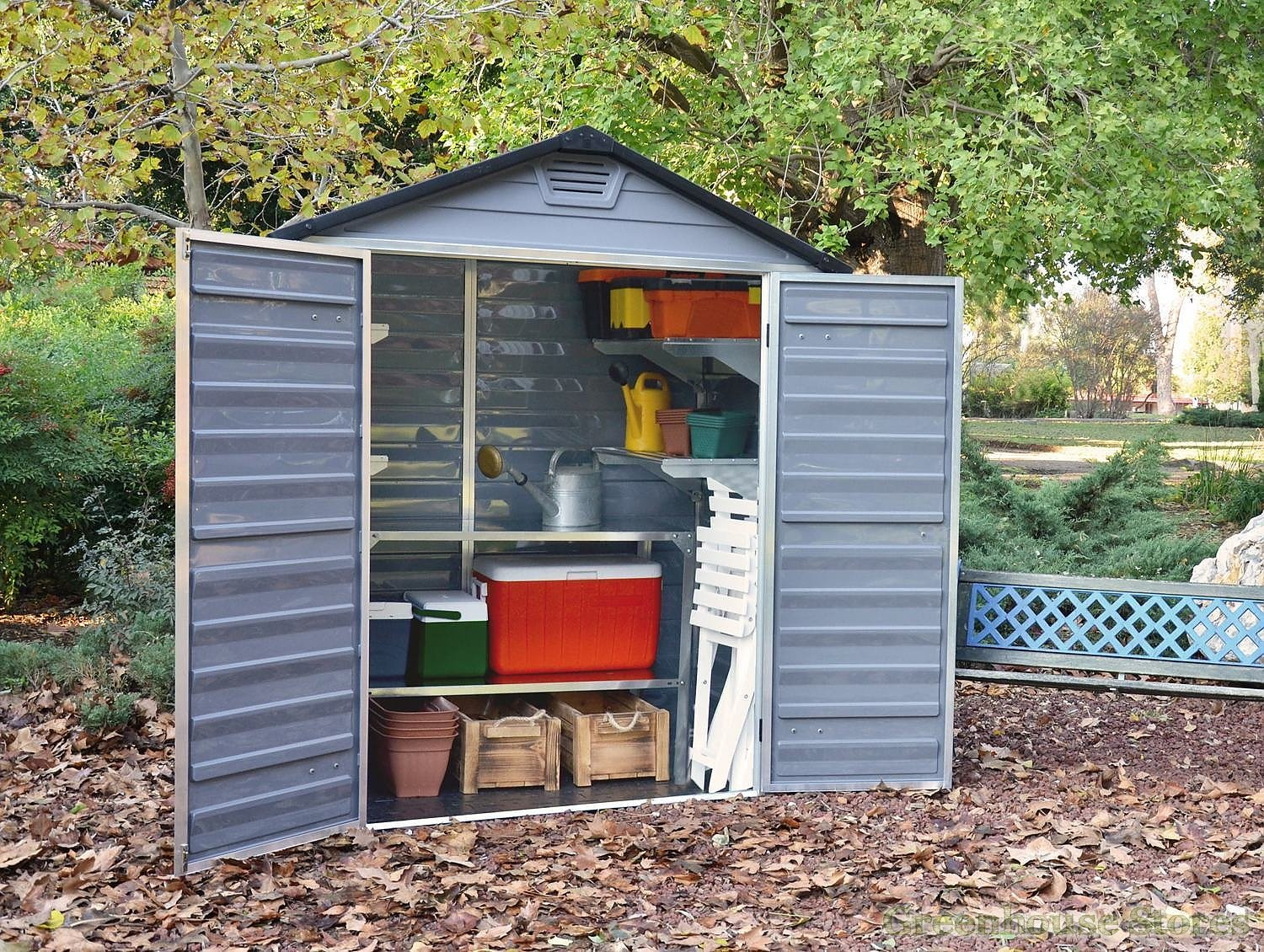 Palram 6x3 Plastic Skylight Grey Shed Greenhouse Stores