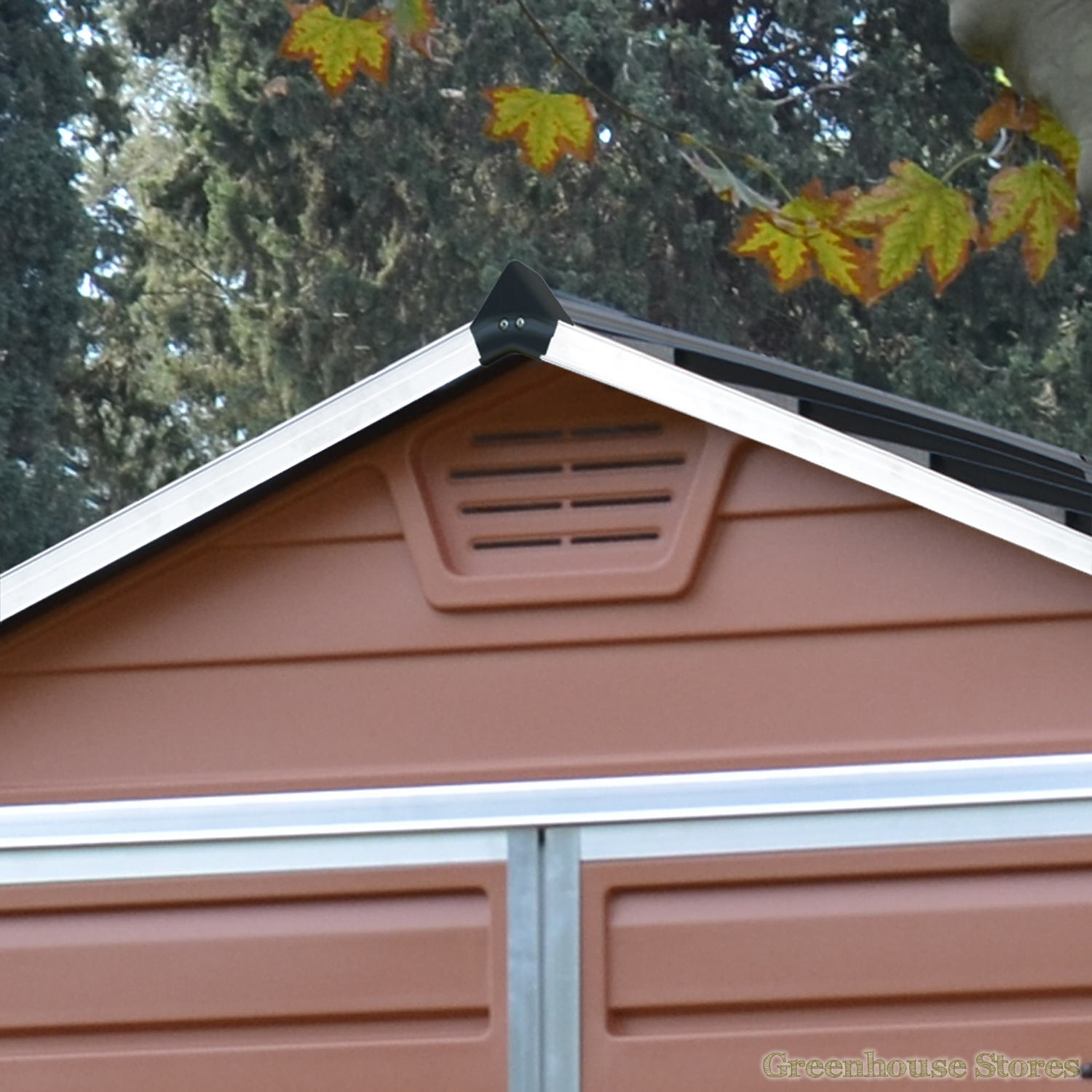 Palram 6x8 plastic skylight amber shed greenhouse stores for Garden shed ventilation