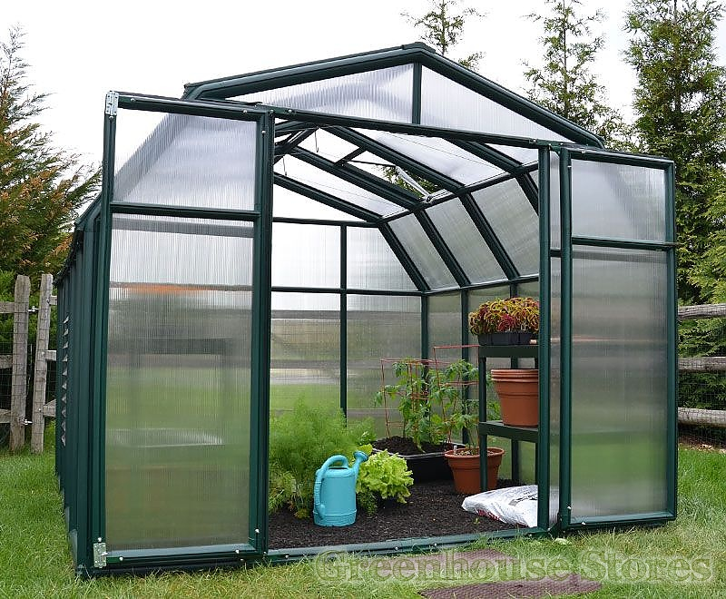 Rion Hobby Gardener 8x8 Greenhouse Polycarbonate