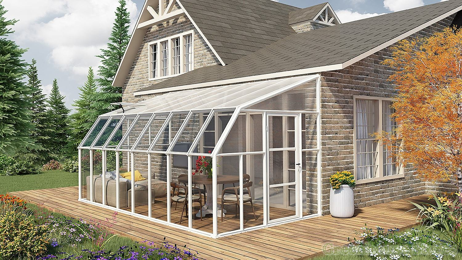Rion Sun Room 8x16 Lean To Greenhouse Polycarbonate