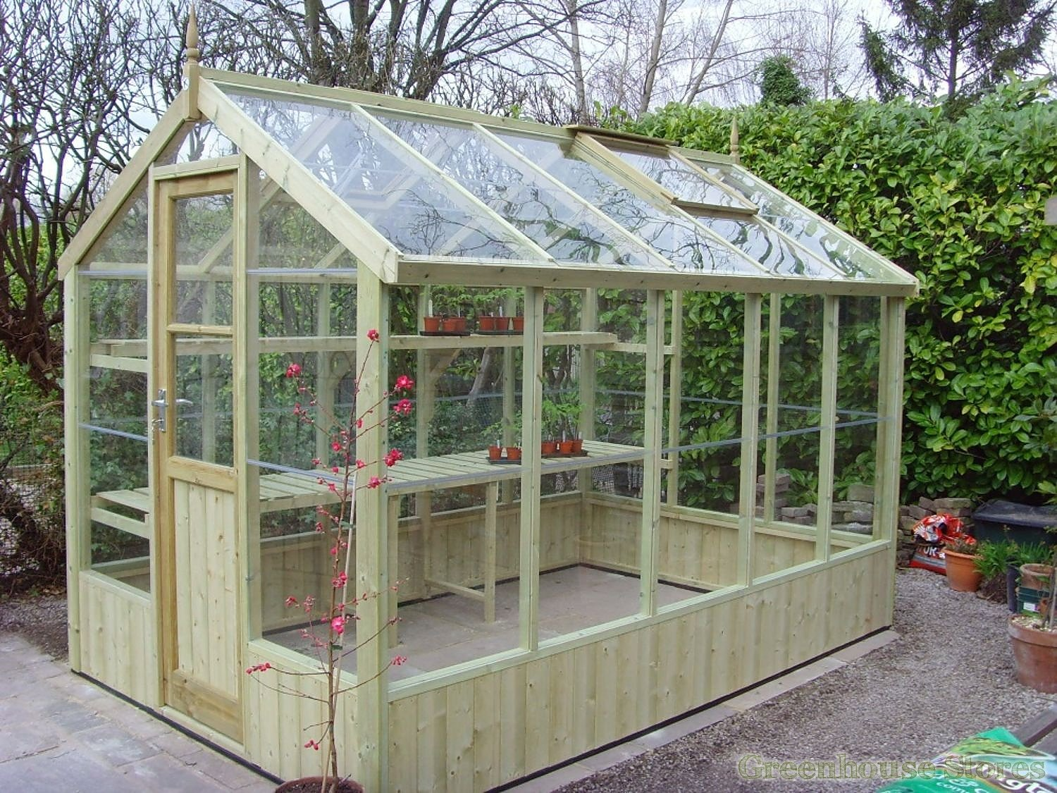 Swallow kingfisher 6x10 wooden greenhouse for Small wooden greenhouse plans