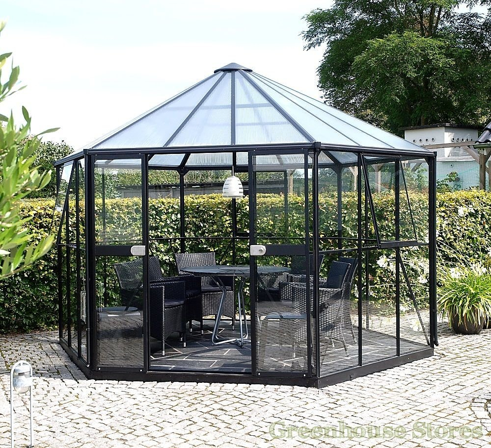 Vitavia hera 9000 black orangery toughened for Castorama abris de jardin