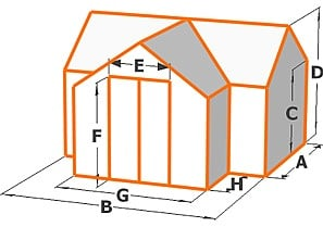 T-Shaped Greenhouse Diagram