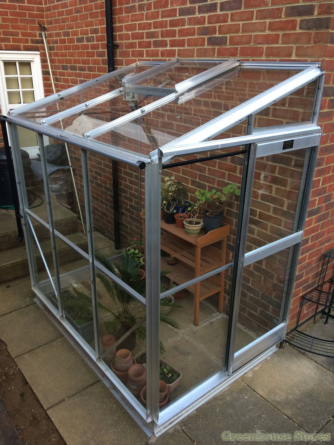 Elite Windsor 4x8 Lean to Greenhouse - 3mm Horticultural Glazing