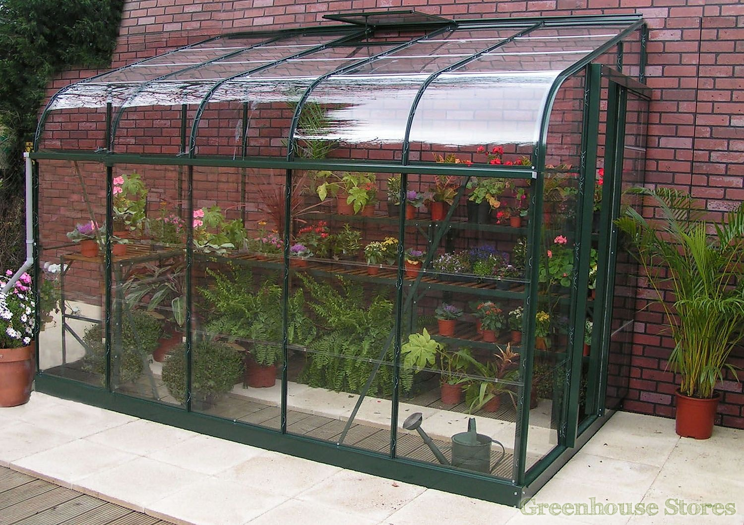 10 Small House Designs That Break Preconceptions About Small Size: Halls Silverline Green 6x8 Lean To Greenhouse Toughened