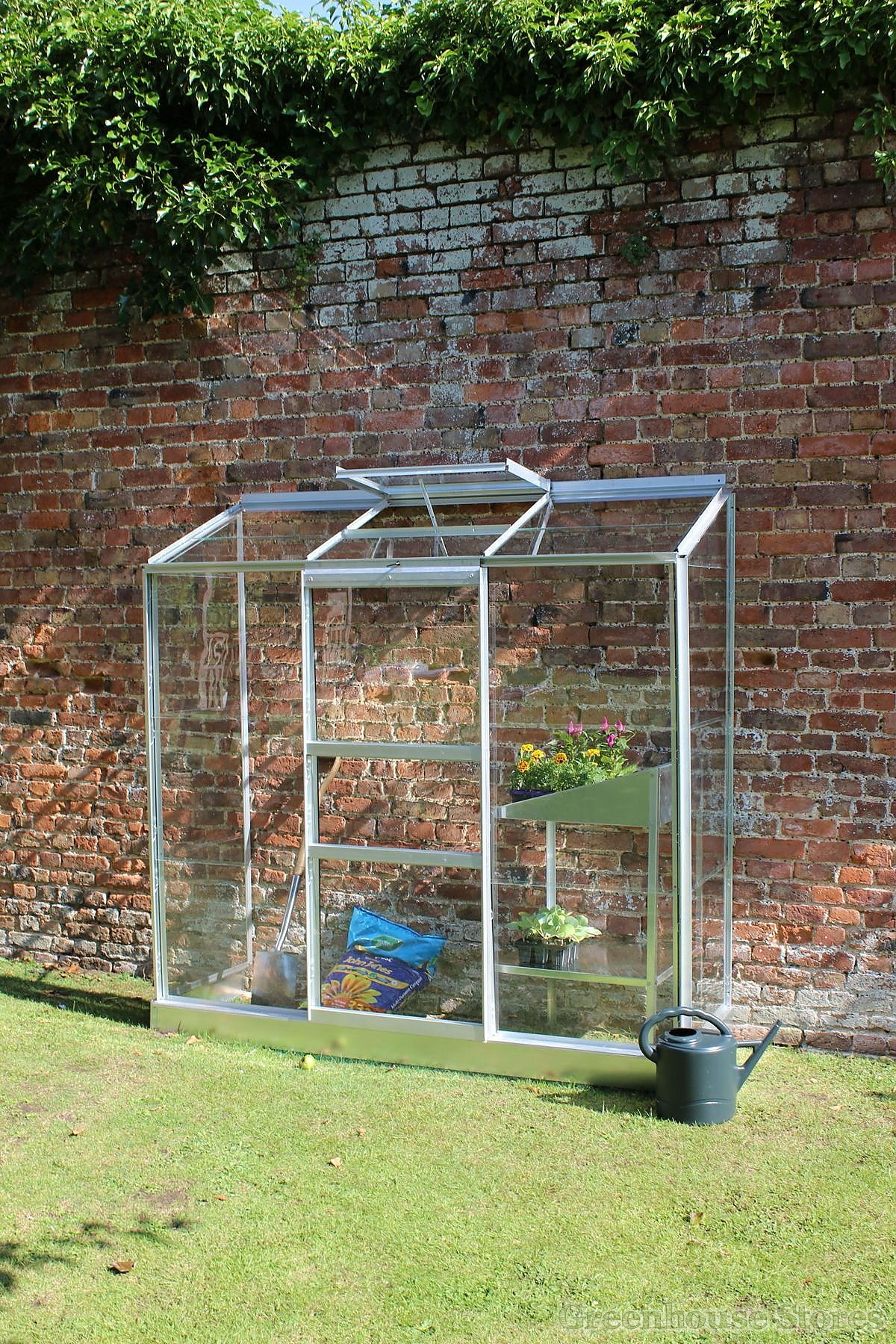 2x6 Halls Wall Garden Lean To Greenhouse Toughened