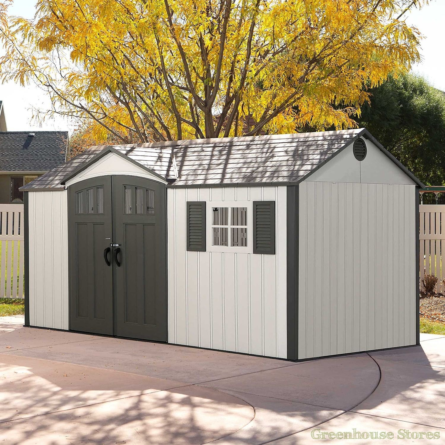 Lifetime 12 5x8 Plastic Shed Greenhouse Stores