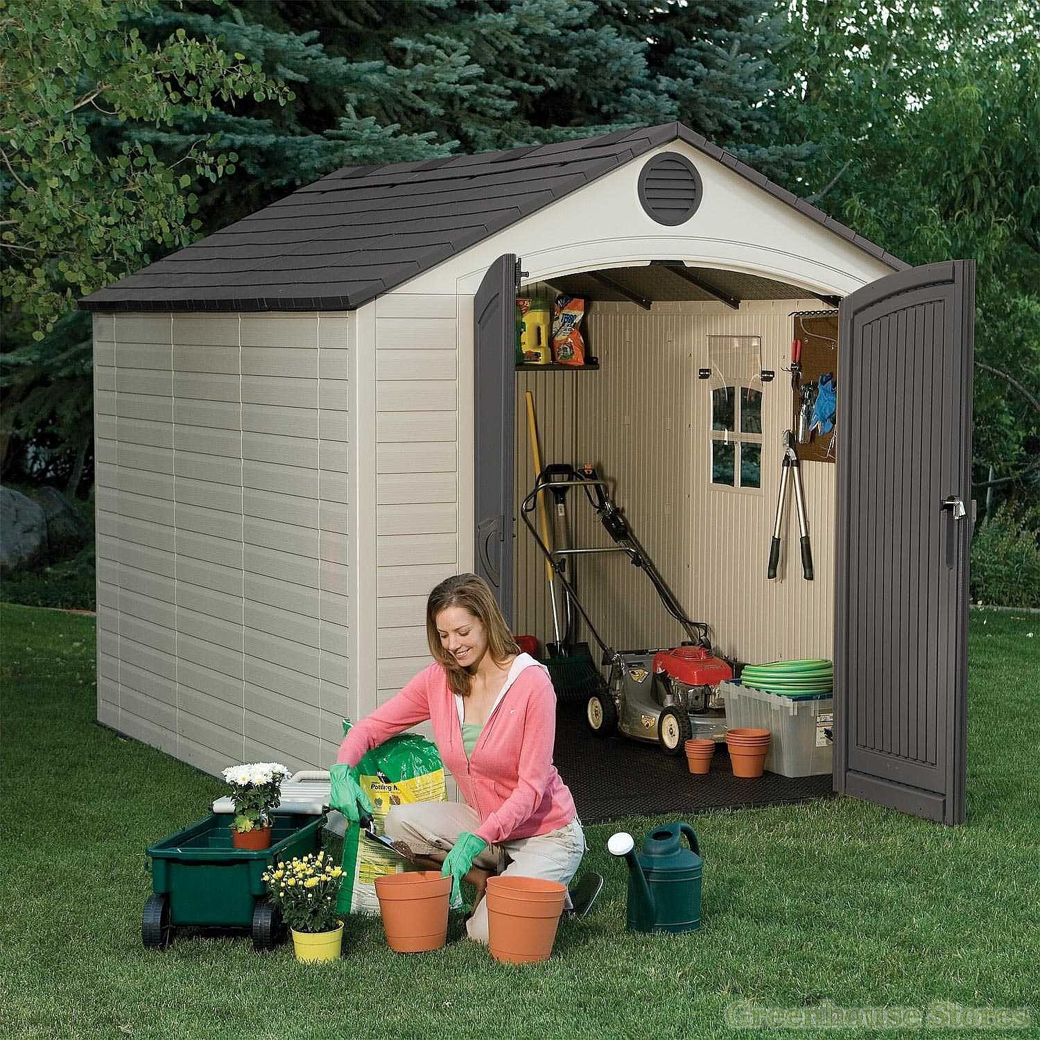 Lifetime 8x10 Plastic Shed Greenhouse Stores