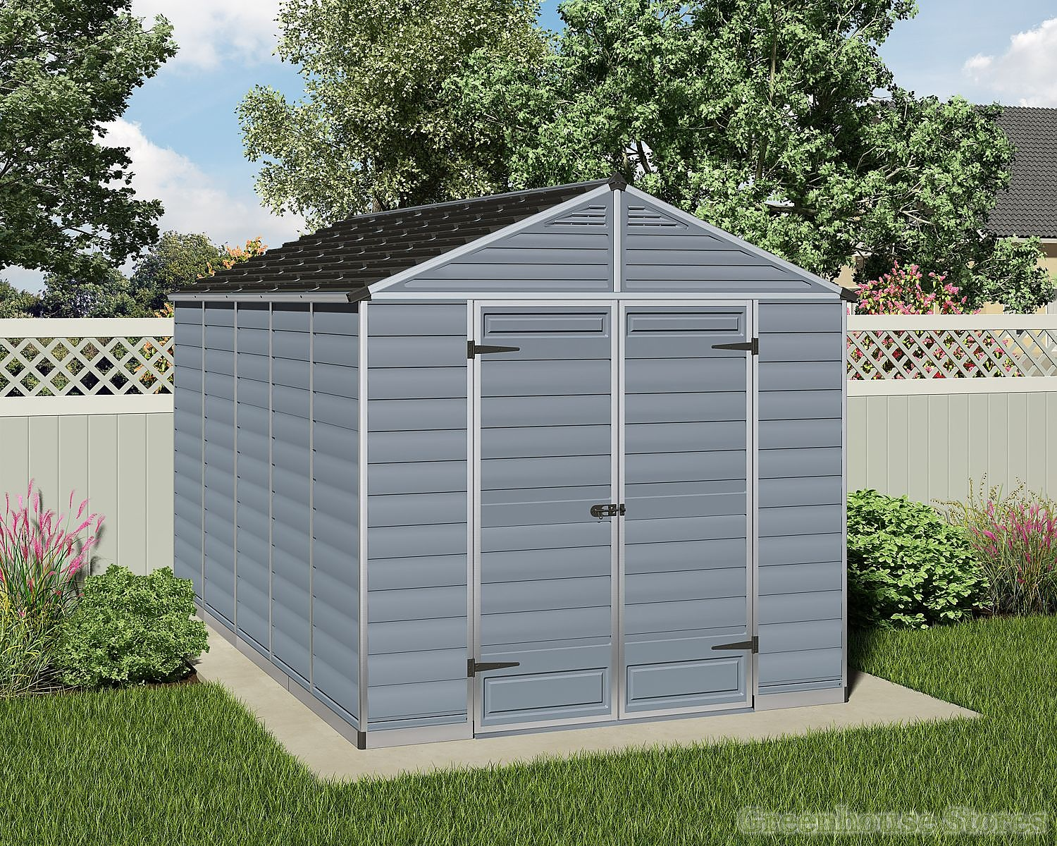Palram 8x12 plastic skylight grey shed greenhouse stores - Garden sheds m x m ...