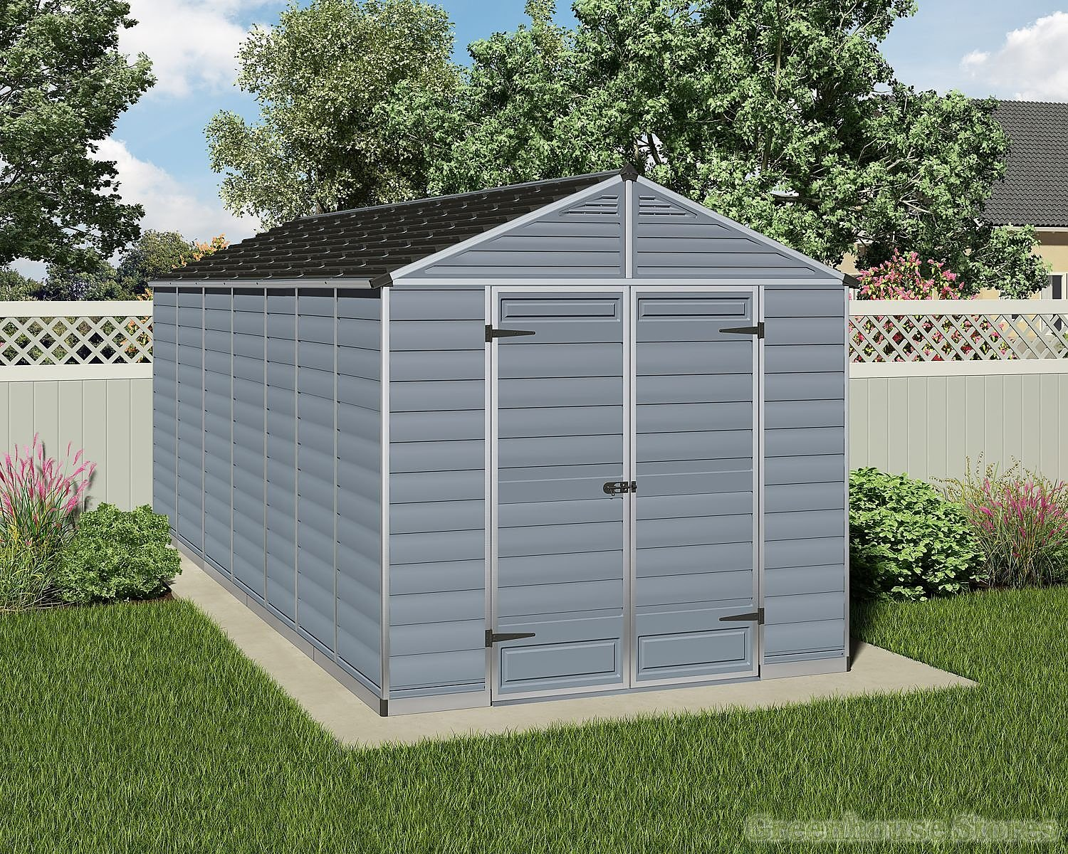Palram 8x16 Plastic Skylight Grey Shed Greenhouse Stores