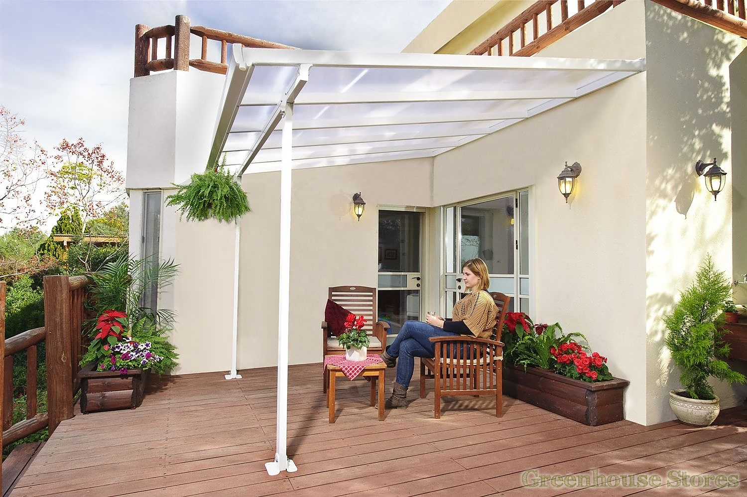 palram feria 3m patio cover in 7 lengths greenhouse stores. Black Bedroom Furniture Sets. Home Design Ideas
