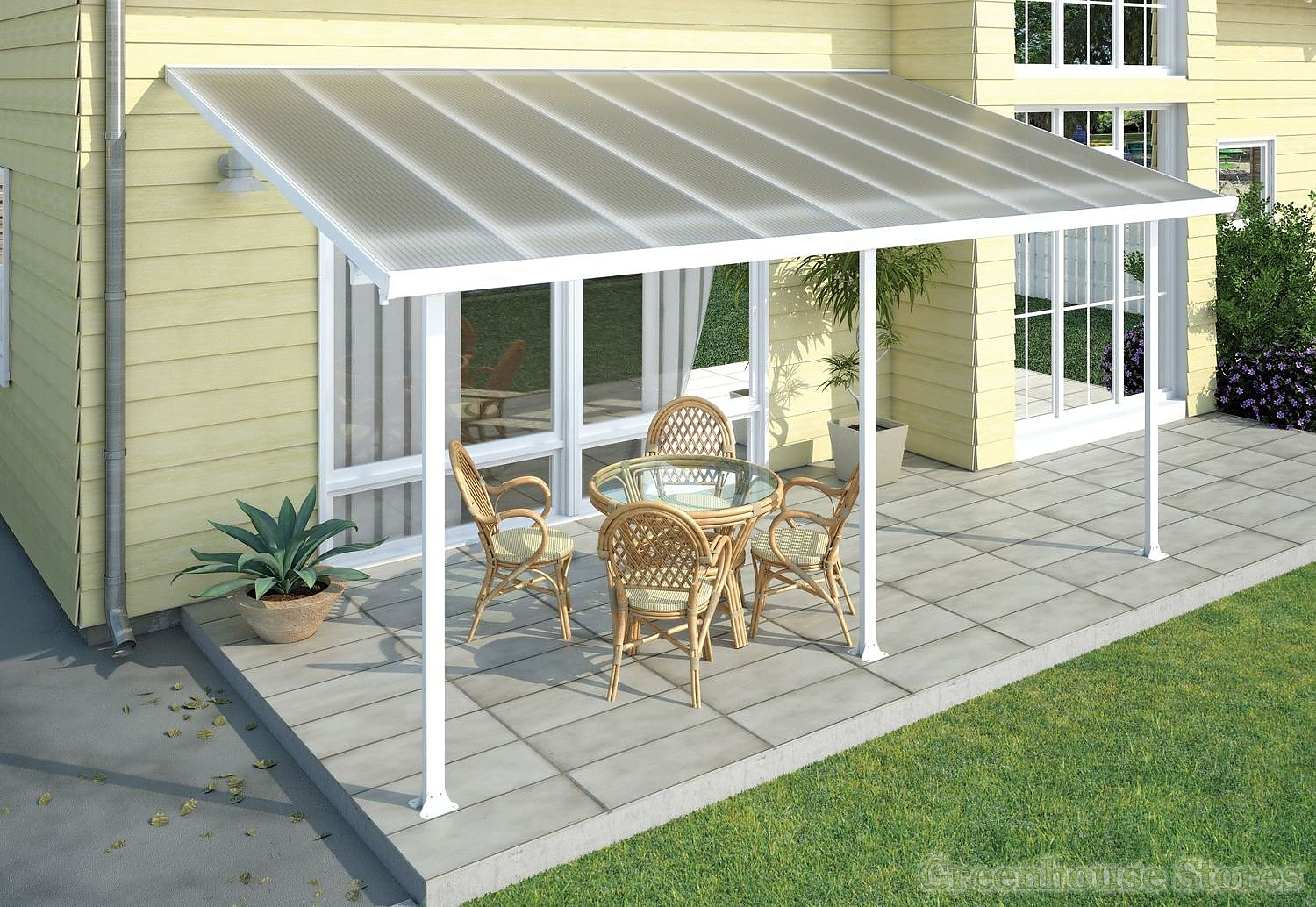 Palram Feria 3m Patio Cover in 7 Lengths Greenhouse Stores