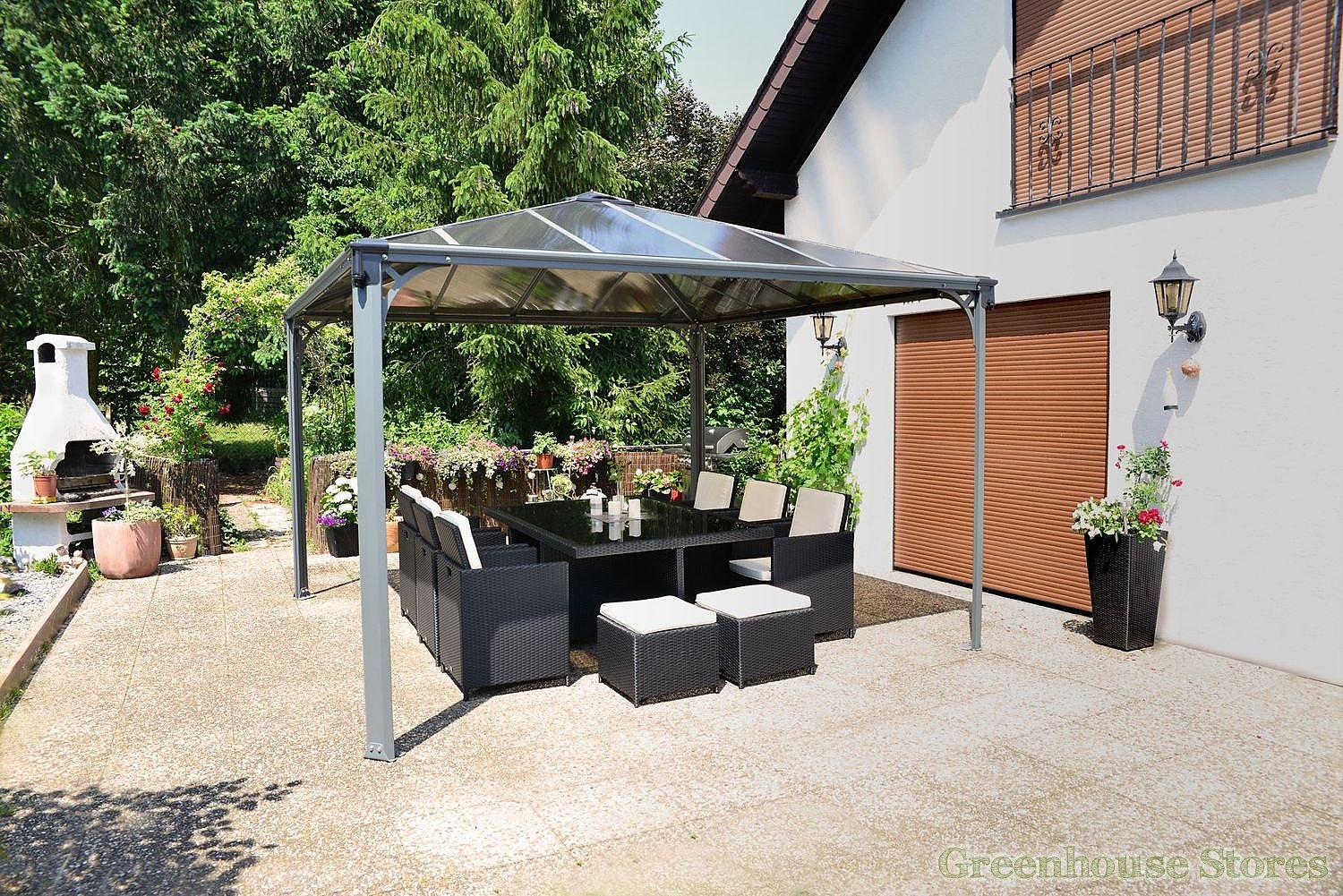 palram palermo 3600 gazebo greenhouse stores. Black Bedroom Furniture Sets. Home Design Ideas