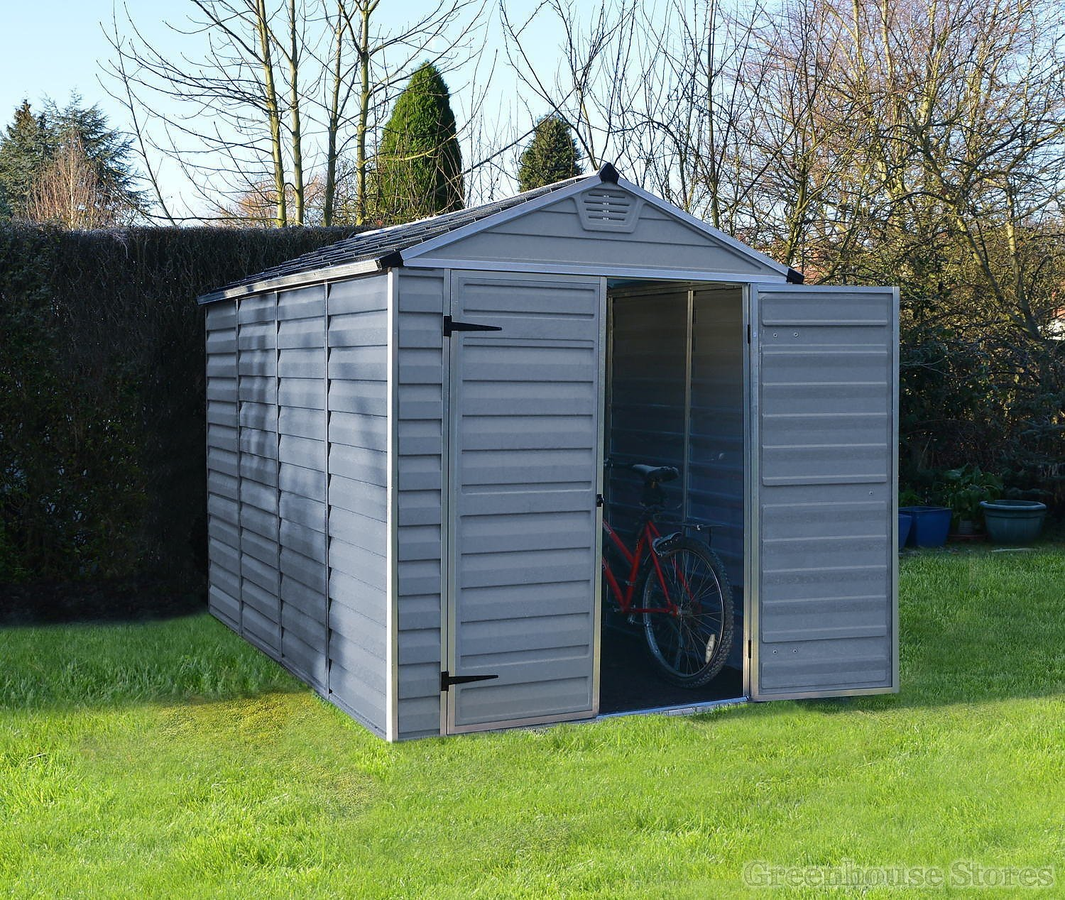 Palram 6x10 plastic skylight grey shed greenhouse stores for Greenhouse skylights