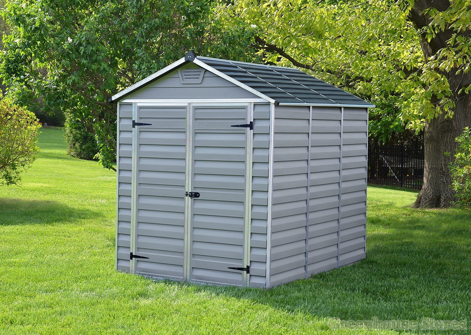 Palram 6x8 plastic skylight grey shed greenhouse stores for Greenhouse skylights