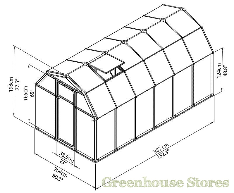 rion ecogrow 6x12 greenhouse polycarbonate. Black Bedroom Furniture Sets. Home Design Ideas