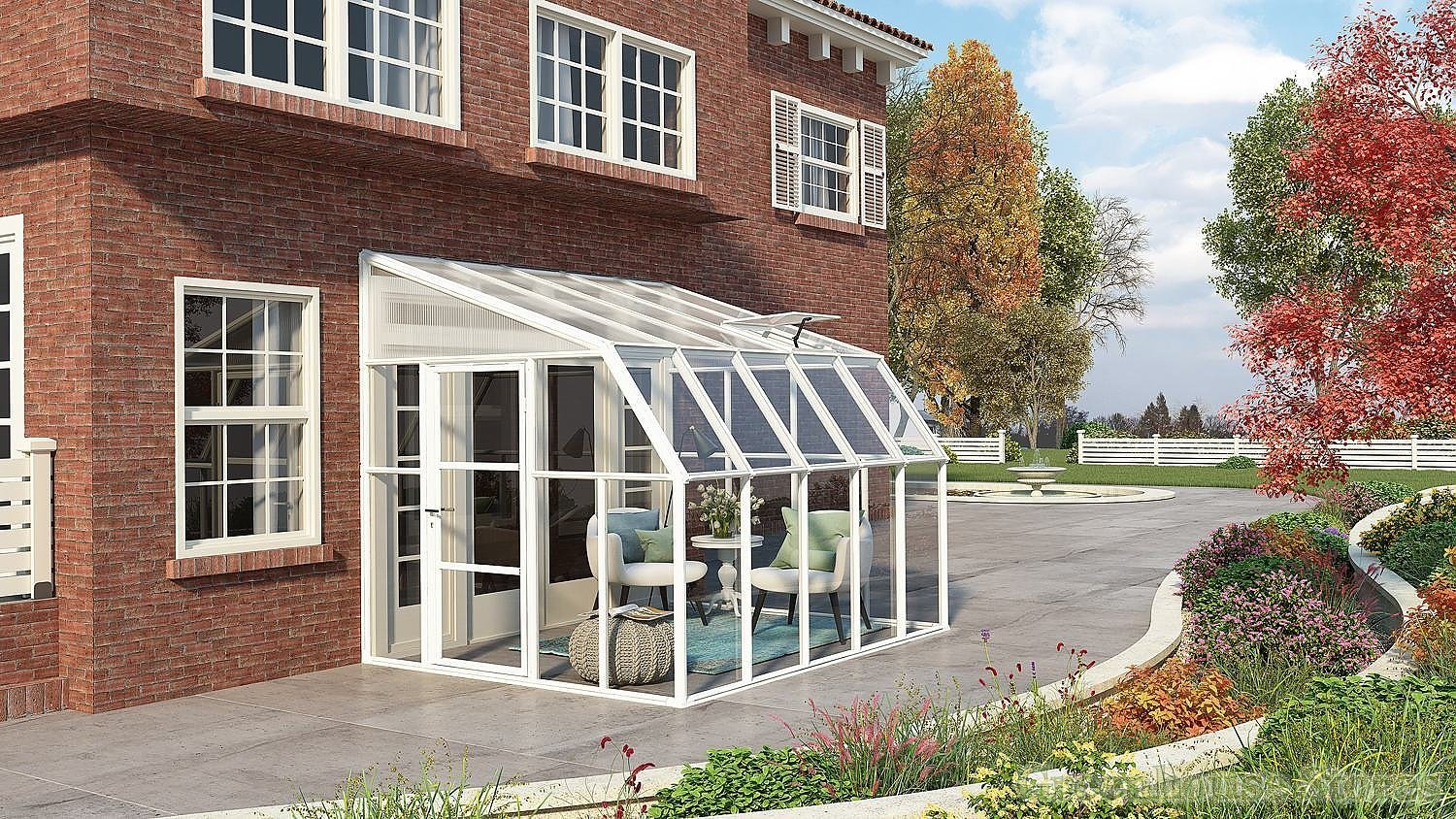 Incredible Rion Sun Room 8X10 Lean To Greenhouse Polycarbonate Glazing Complete Home Design Collection Barbaintelli Responsecom