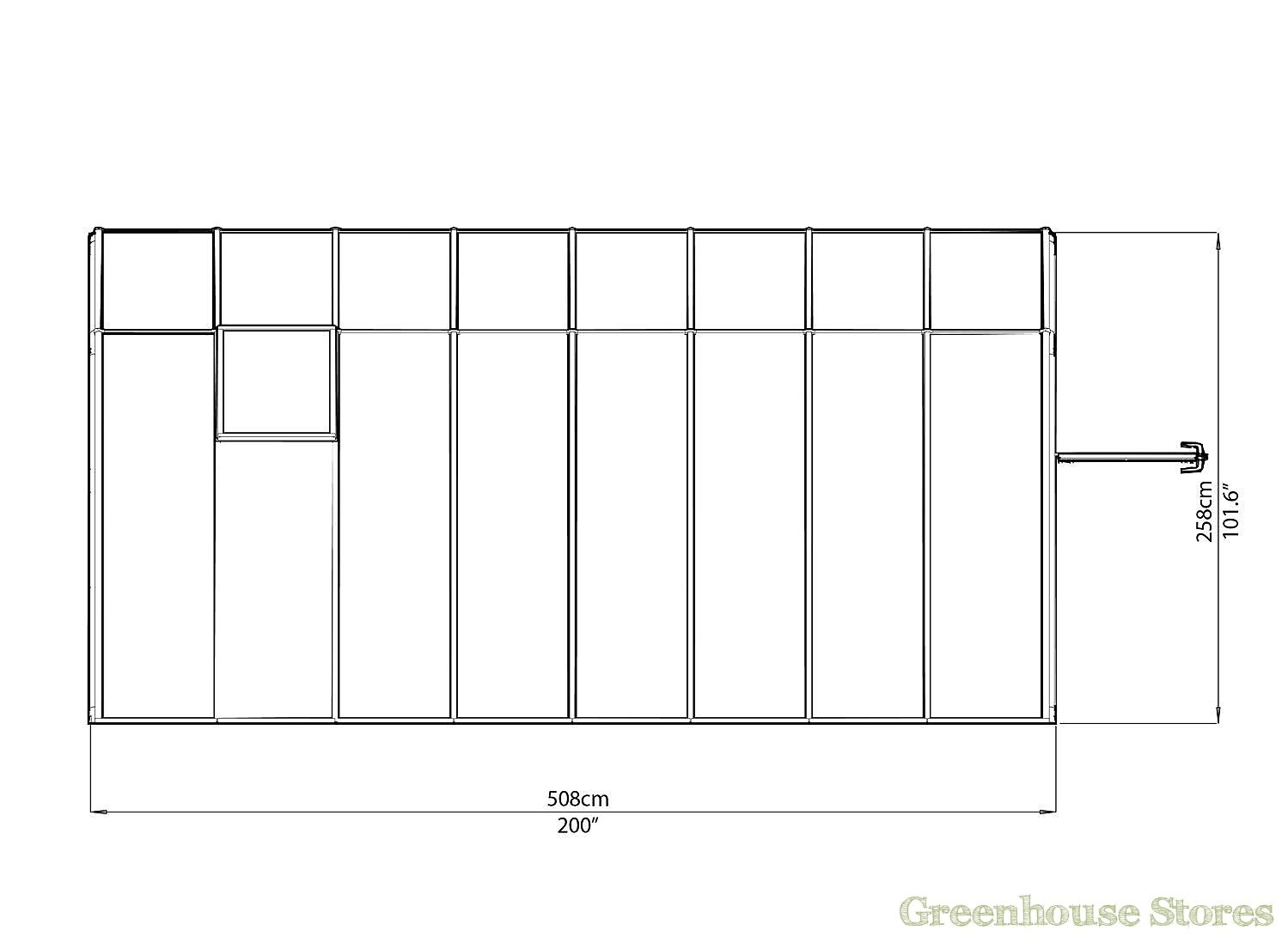 Rion sun room 8x16 lean to greenhouse polycarbonate for Sunroom sizes