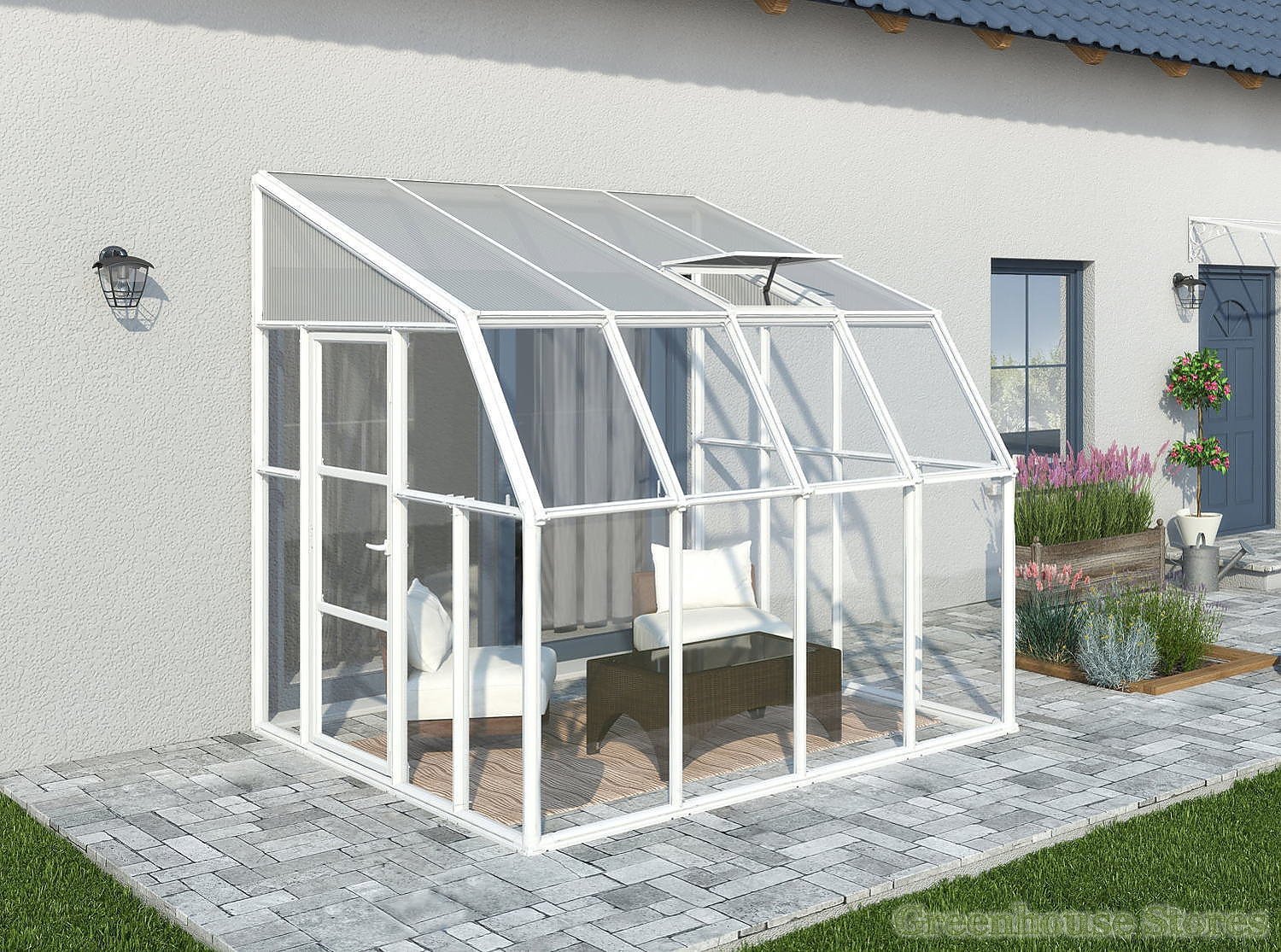 Rion Sun Room 8x8 Lean To Greenhouse Polycarbonate