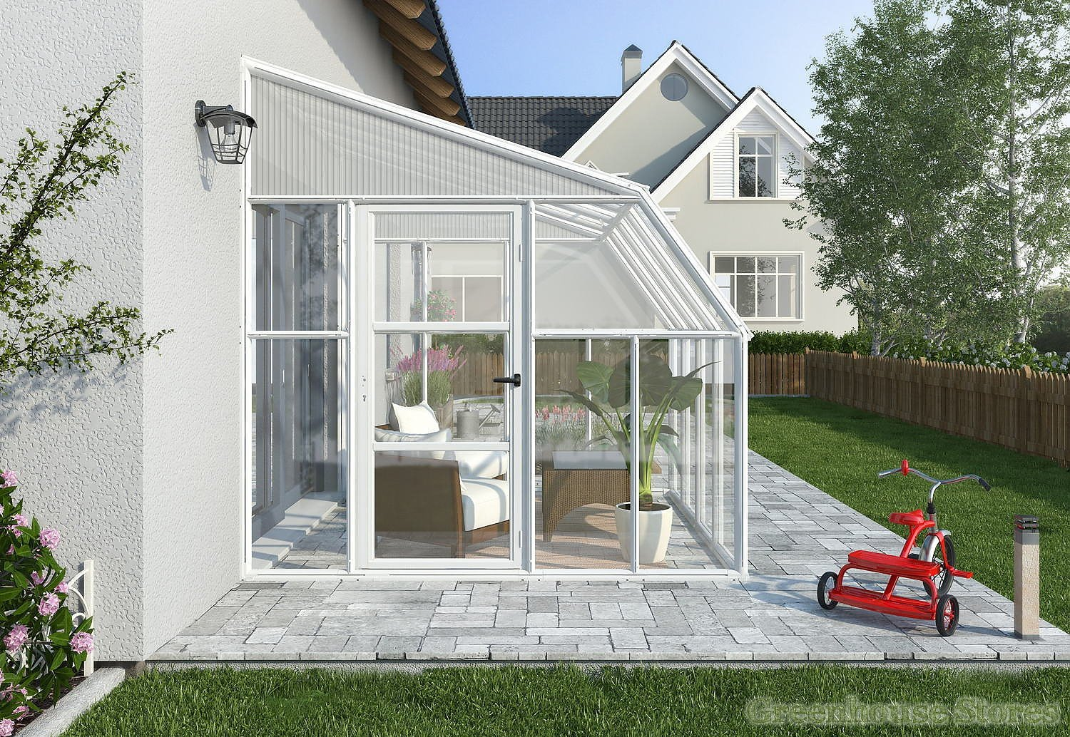Rion sun room 8x14 lean to greenhouse polycarbonate for Solarium home