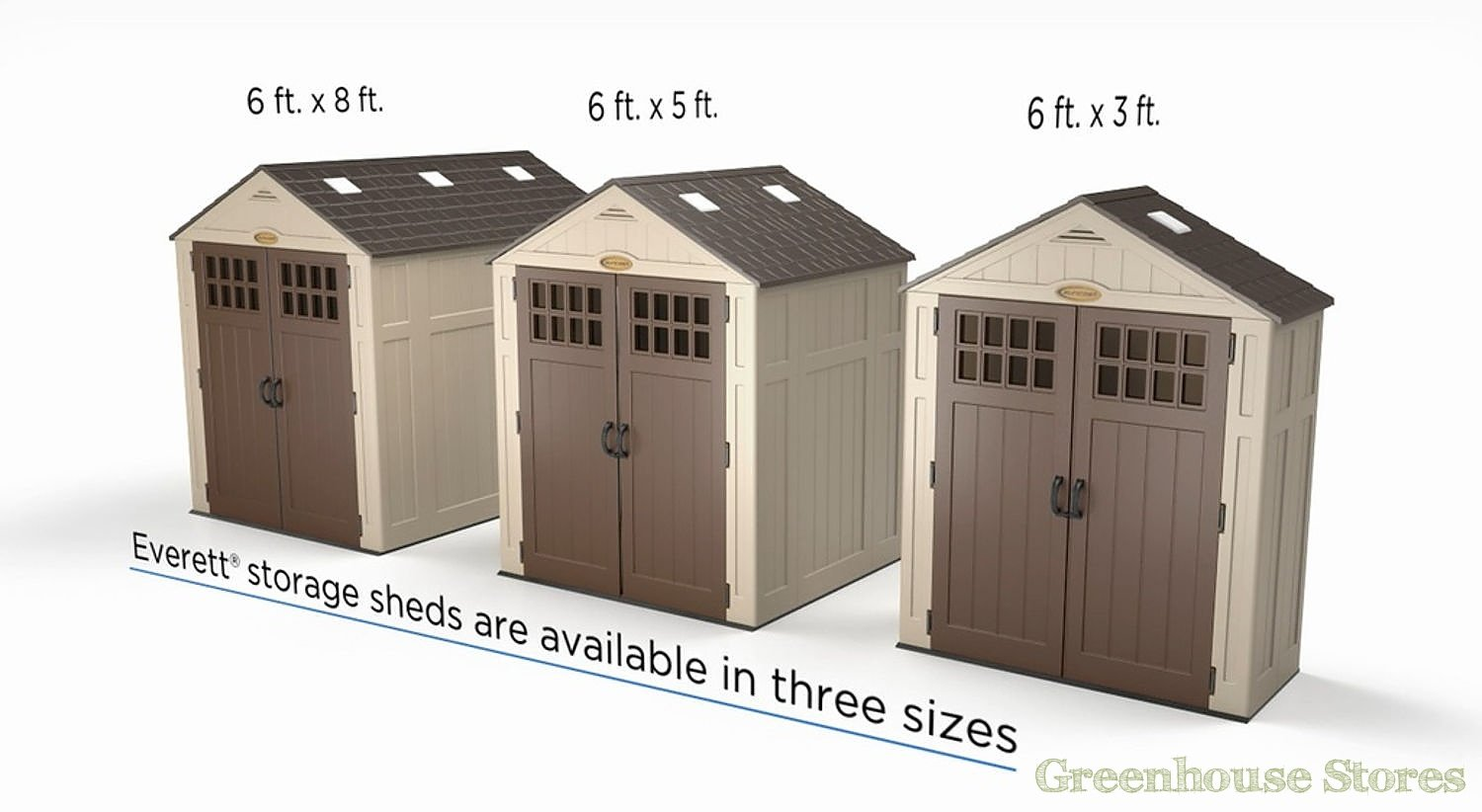 suncast 6x3 everett five plastic storage shed suncast everett size options