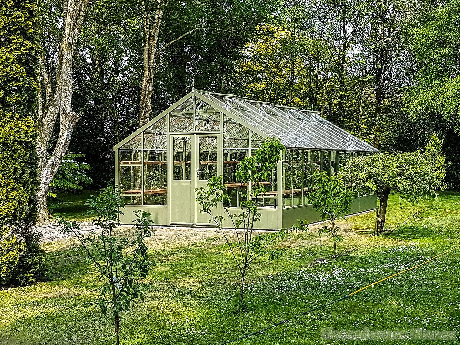 Swallow falcon 13x12 wooden greenhouse greenhouse stores for Inexpensive greenhouse shelving wood